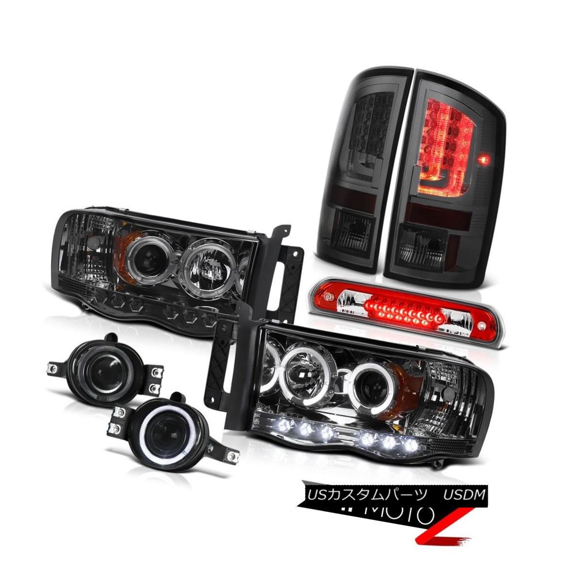 テールライト 2003-2005 Dodge Ram 2500 ST Tail Lights Headlights Fog Roof Cab Light Halo Rim 2003-2005 Dodge Ram 2500 STテールライトヘッドライトフォグルーフキャブライトHalo Rim