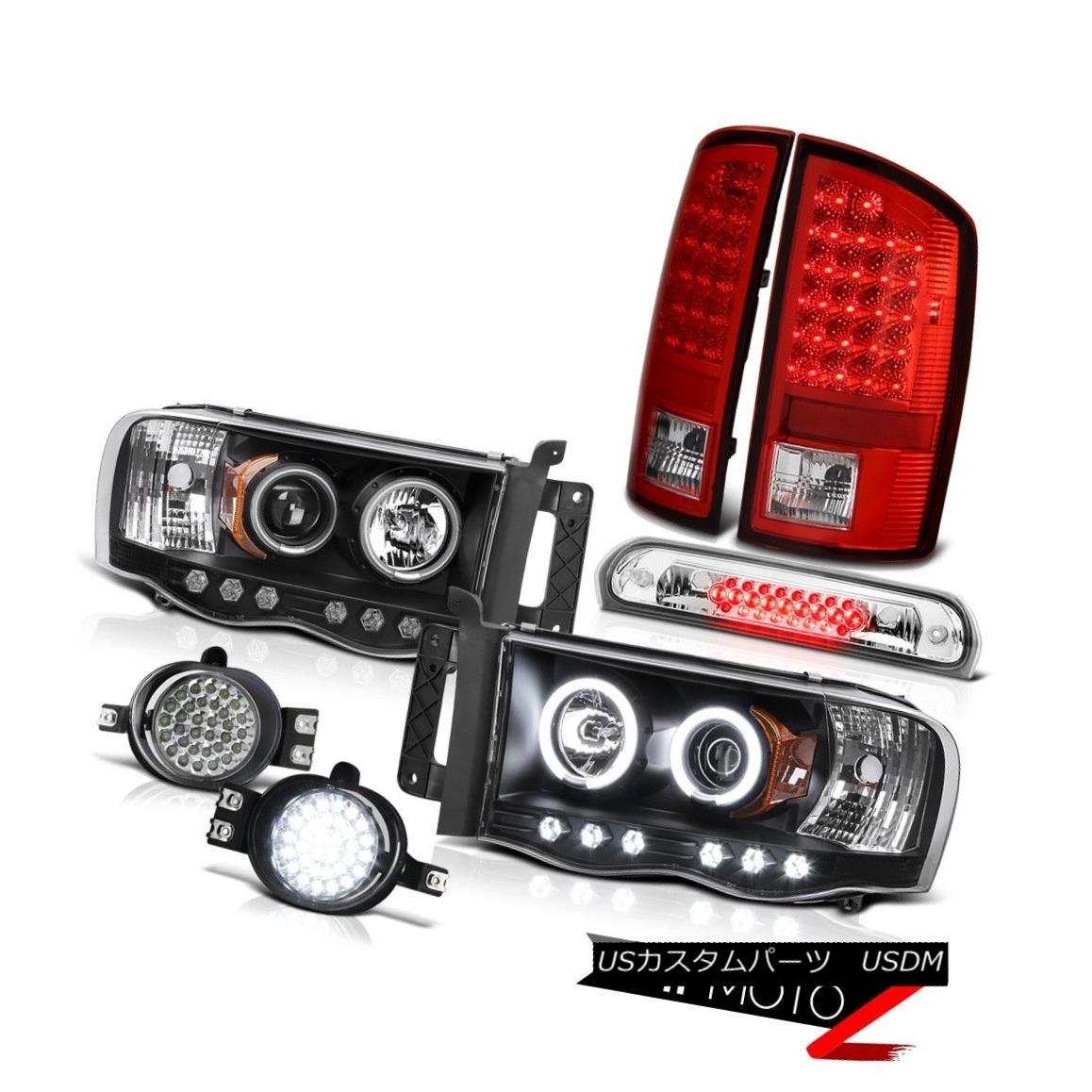 テールライト 02-05 Ram 3500 DRL CCFL Headlights Red Brake LED Tail Lights Trim Fog High Stop 02-05 Ram 3500 DRL CCFLヘッドライトレッドブレーキLEDテールライトトリムフォグハイストップ