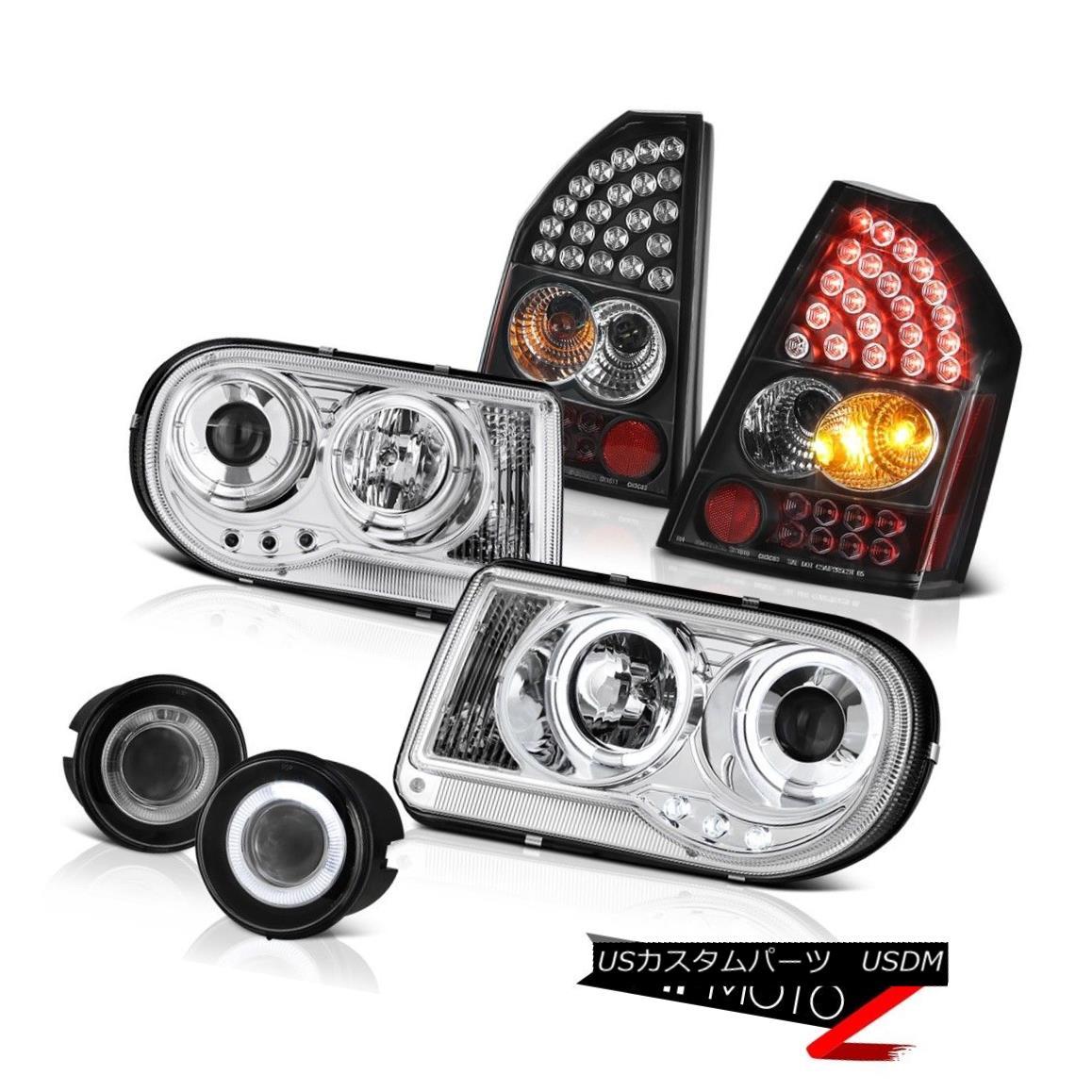 テールライト 2008 2009 2010 Chrysler 300C 5.7L Headlights Brake LED Tail Lights Glass Fog 2008 2009 2010クライスラー300C 5.7LヘッドライトブレーキLEDテールライトグラスフォグ