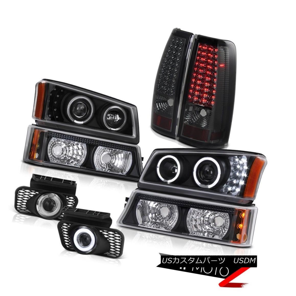 テールライト Black Headlight Projector Smoke Brake Tail Light Foglight 2003-2006 Silverado LT ブラックヘッドライトプロジェクタースモークブレーキテールライトFoglight 2003-2006 Silverado LT