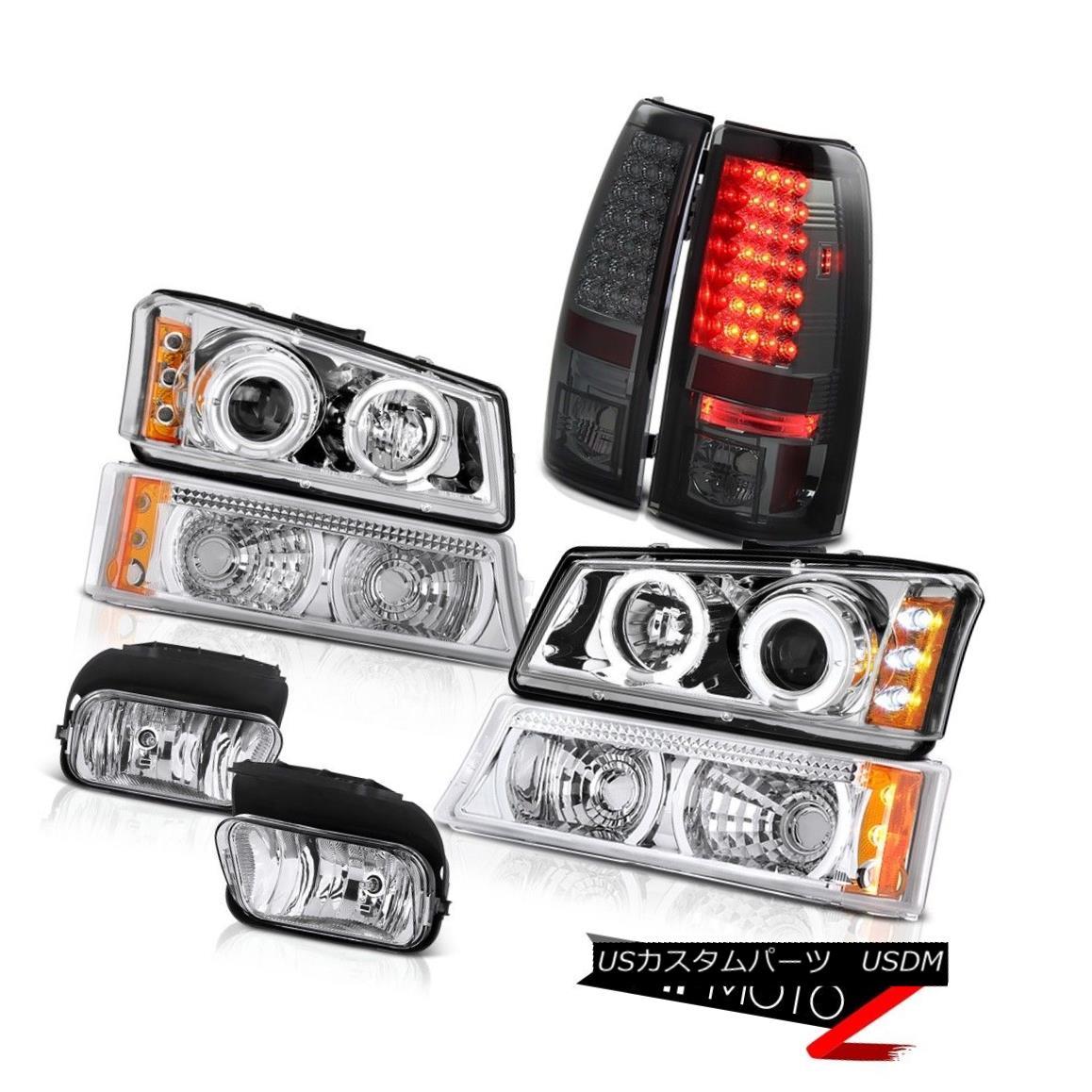テールライト Crystal Halo Headlight Signal Bumper Taillamp Driving Foglights 05 06 Silverado クリスタルハローヘッドライトシグナルバンパーティアランプドライビングフォグライト05 06シルバラード