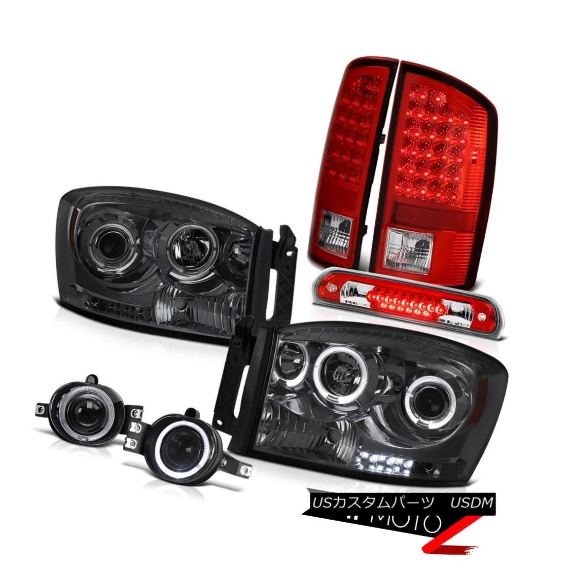 テールライト Tinted Headlight RED LED Tail Lights Projector Fog High Brake 2006 Dodge Ram SLT 着色ヘッドライトRED LEDテールライトプロジェクターフォグハイブレーキ2006 Dodge Ram SLT