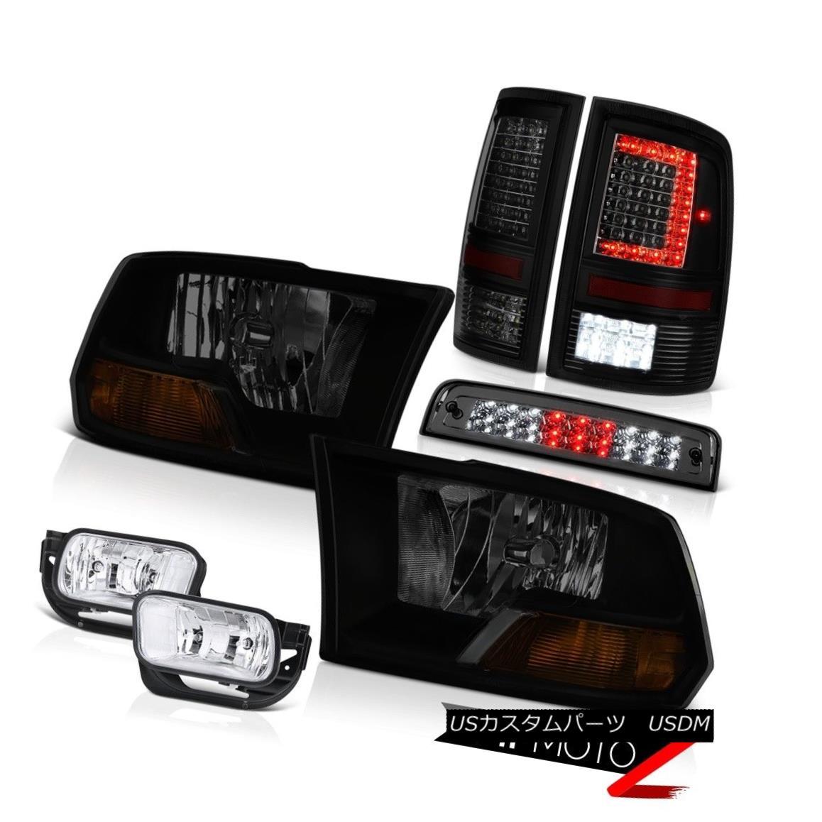テールライト 09 10 11-18 Dodge RAM 3500 Tail Lights Fog Brake Light Factory Style Headlamp 09 10 11-18 Dodge RAM 3500テールライトフォグブレーキライト工場風前照灯