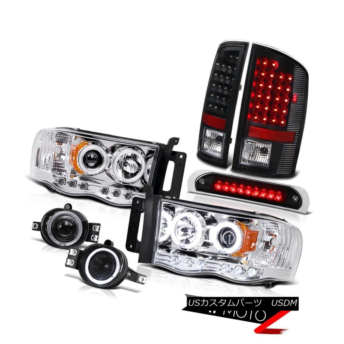 テールライト Angel Eye Headlight 02-05 Ram Turbo Diesel Tail Lamp Projector Fog Roof Stop LED エンジェルアイヘッドライト02-05ラムターボディーゼルテールランププロジェクターフォグルーフストップLED