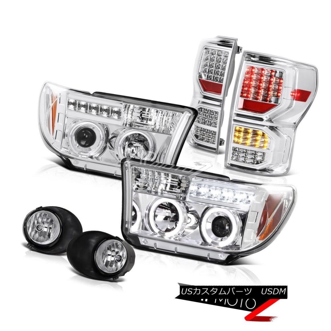 テールライト 07-13 Toyota Tundra Limited Rear Brake Lights Fog Headlamps LED SMD LED Signal 07-13 Toyota Tundra LimitedリアブレーキライトフォグヘッドランプLED SMD LED信号