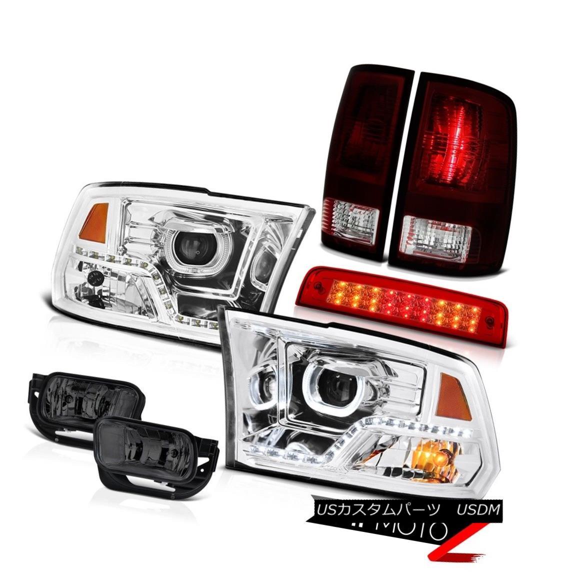 テールライト 2009-2013 Dodge RAM 1500 Headlamp Brake Lights Fog Light Factory Style Tail SET 2009-2013ダッジRAM 1500ヘッドランプブレーキライトフォグライト工場スタイルテールSET