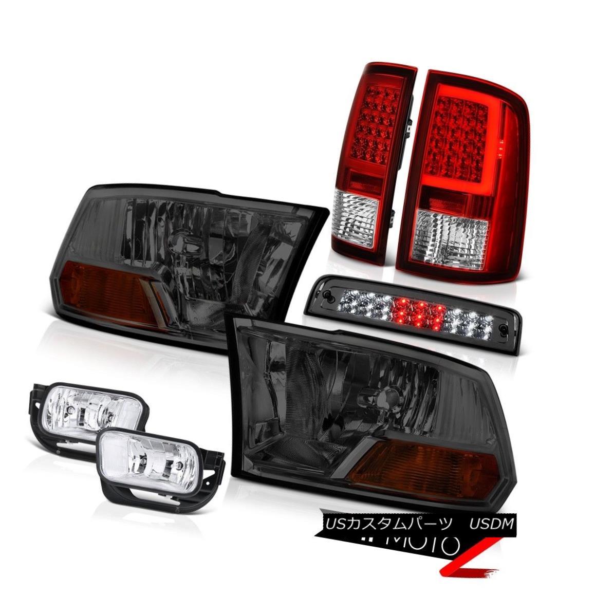 テールライト 2009-2013 Dodge RAM 1500 Red Tail Lamp Fog Brake Light Factory Style Head Lamp 2009-2013ダッジRAM 1500レッドテールランプフォグブレーキライト工場スタイルヘッドランプ