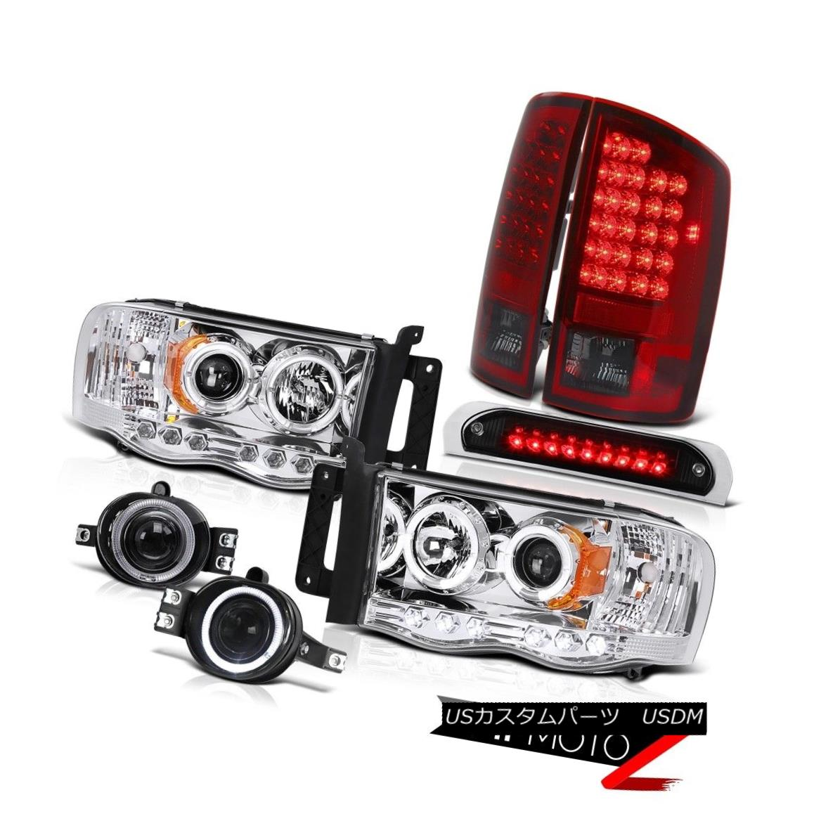 テールライト 02 03 04 05 Ram WS Halo LED Headlights Rear Tail Lights Projector Foglamps Roof 02 03 04 05 Ram WS Haloヘッドライトリアテールライトプロジェクターフォグランプ屋根