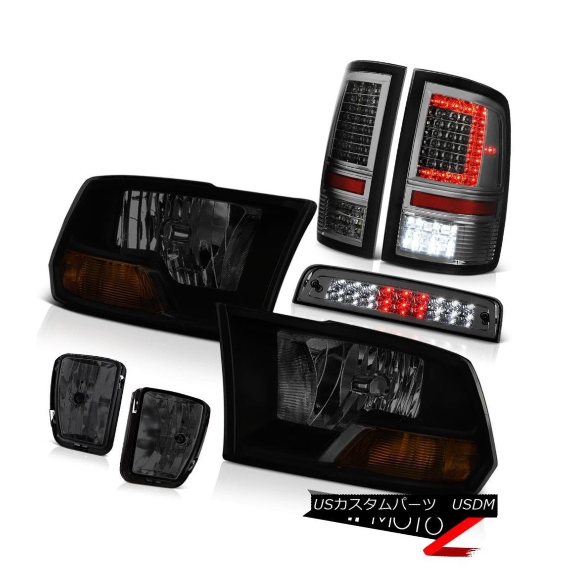 テールライト 13-18 RAM 1500 Tail Lights Driving Light Brake Factory Style Head Lamp SET PAIR 13-18 RAM 1500テールライト駆動ライトブレーキ工場スタイルヘッドランプSET PAIR