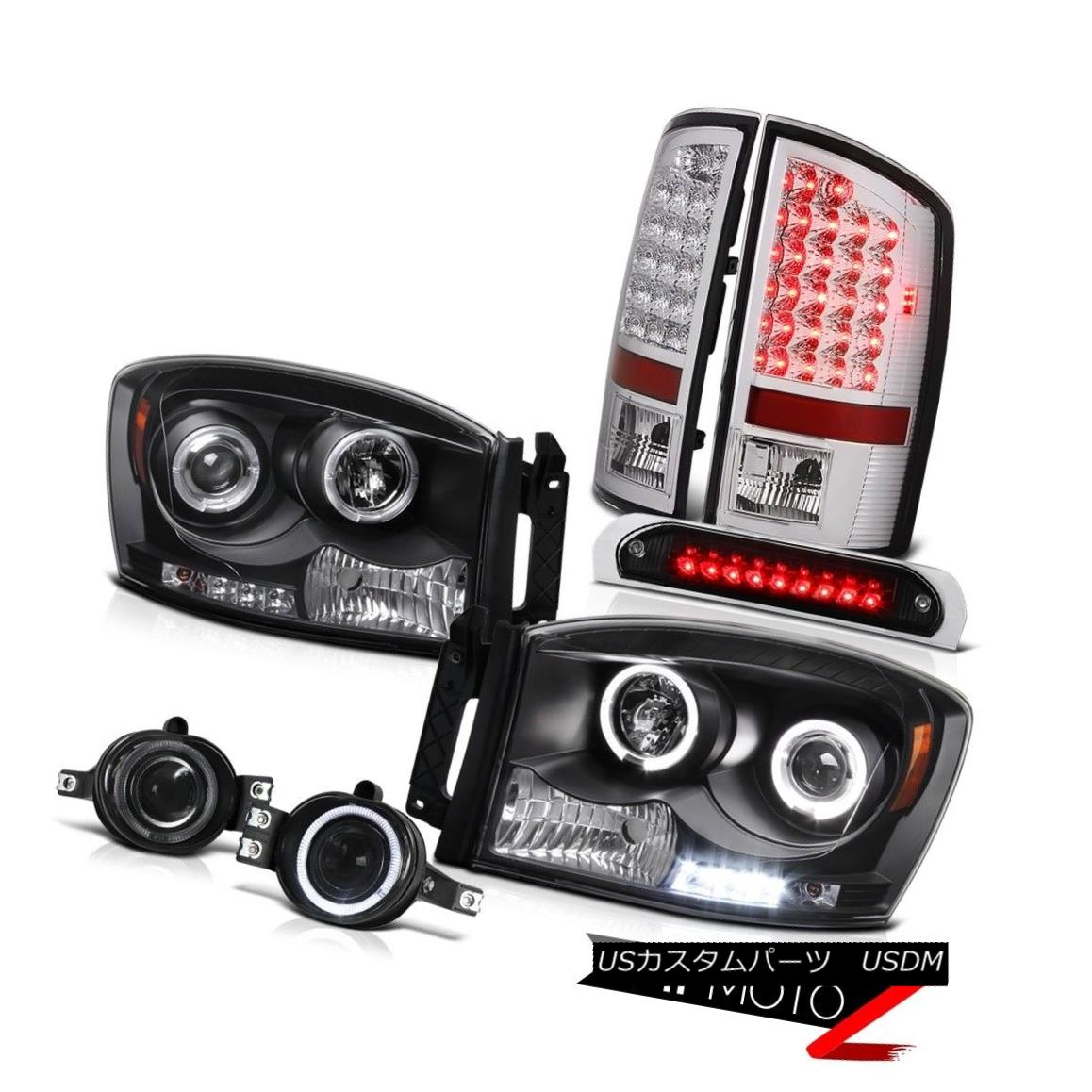 大特価!! テールライト LED Dual Halo Headlights 06 Euro LED Tail Lights Projector Dodge Fog Brake Cargo 06 Dodge Ram デュアルヘイローヘッドライトユーロLEDテールライトプロジェクターフォグブレーキカーゴ06ドッジラム, ハサキマチ:ceb583aa --- esef.localized.me