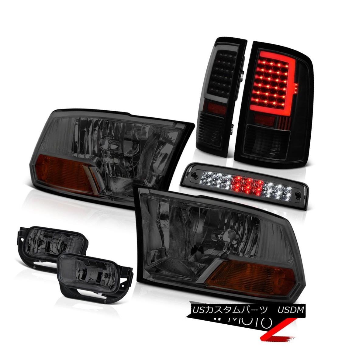 テールライト 2009-2013 Dodge RAM 1500 Tail Lamp Fog Lights Brake Factory Style Head Lamp SET 2009-2013ダッジRAM 1500テールランプフォグライトブレーキ工場スタイルヘッドランプSET