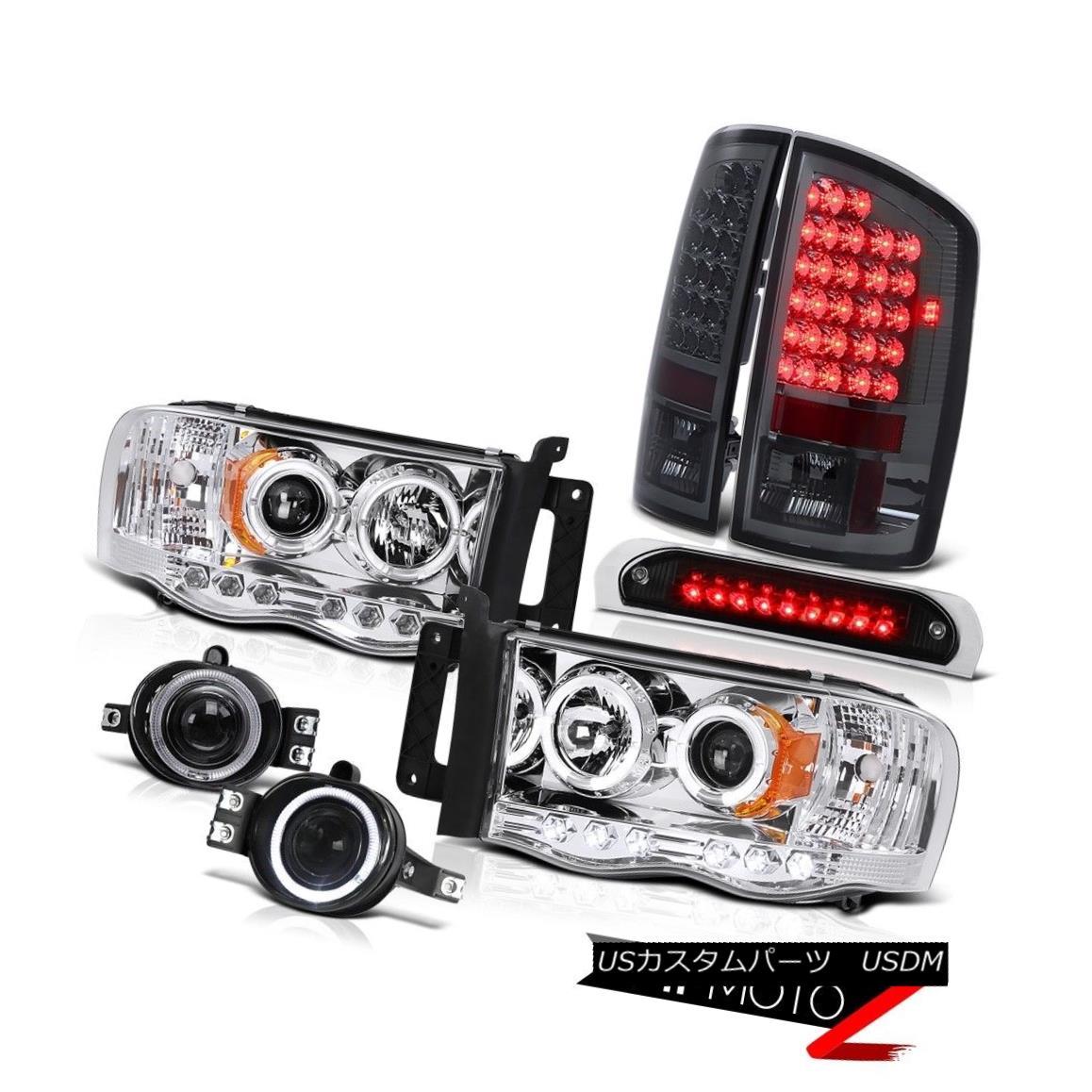テールライト LED Headlamps Smoke L.E.D Tail Lights Chrome Fog Black 3rd Brake 02 04 05 Ram V8 LEDヘッドランプスモークL.E.Dテールライトクロムフォグブラック3rdブレーキ02 04 05ラムV8