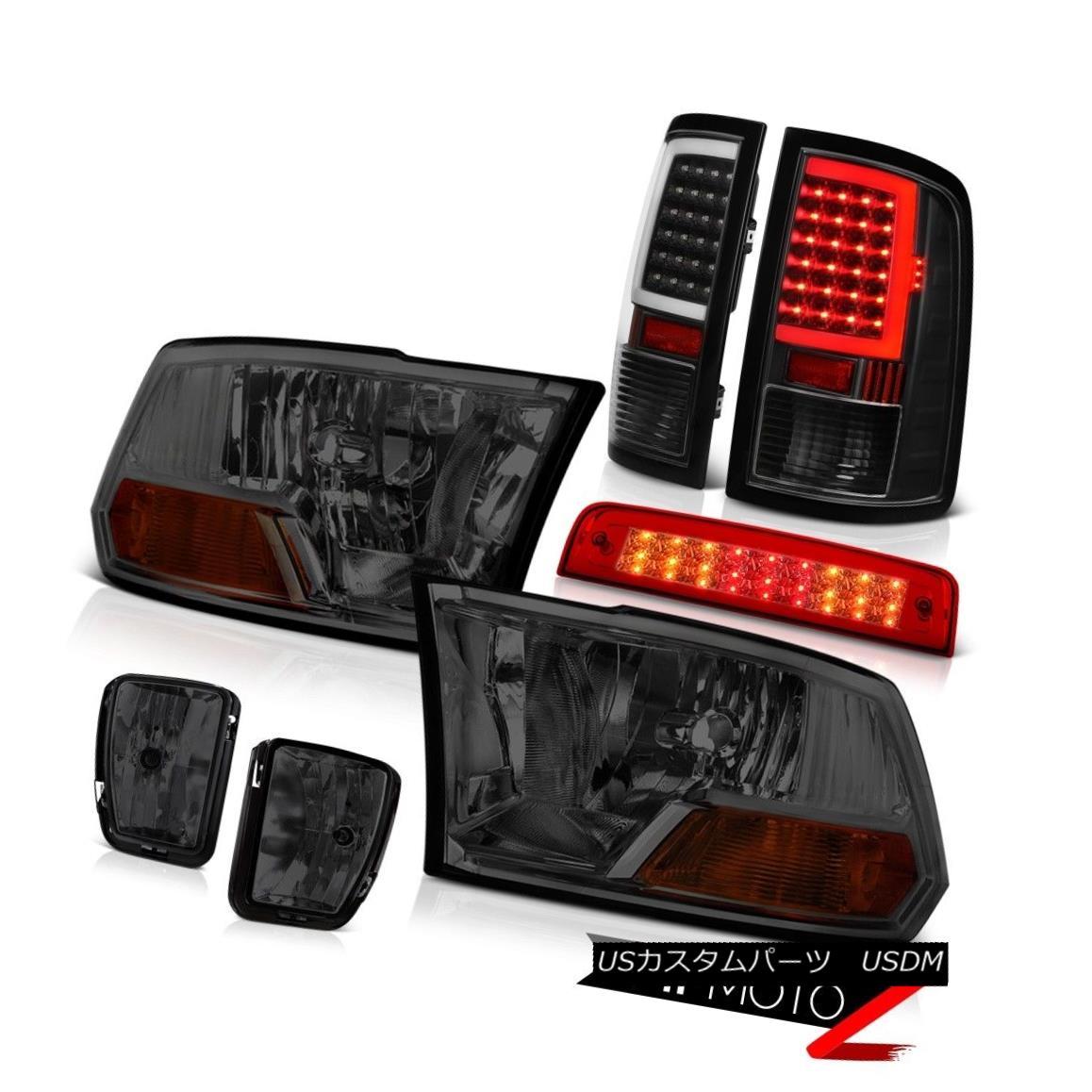 テールライト 13 14 15 16 17 18 RAM 1500 Tail lamp 3rd Brake Fog Factory Style HeadLight SET 13 14 15 16 17 18 RAM 1500テールランプ第3ブレーキ霧工場スタイルヘッドライトSET
