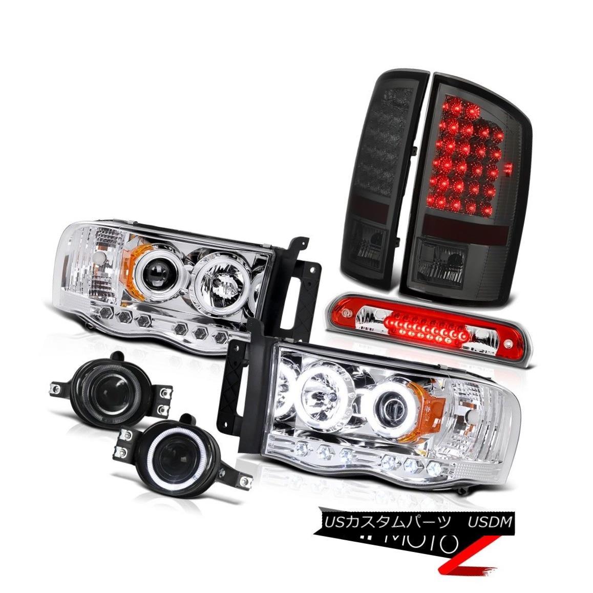 テールライト 02-05 Ram WS CCFL Tech Pkg Headlights LED Brake Lamps Driving Fog High Stop Red 02-05 Ram WS CCFL Tech PkgヘッドライトLEDブレーキランプフォグハイストップレッド