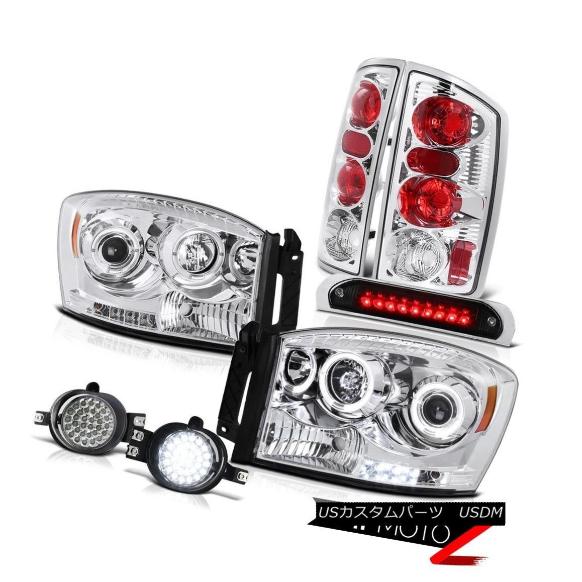テールライト 2006 Ram TurboDiesel 2X Halo Headlights Tail Lights LED Driving Foglights 3rd 2006 Ram Turbo Diesel 2X HaloヘッドライトテールライトLEDドライビングフォグライト3