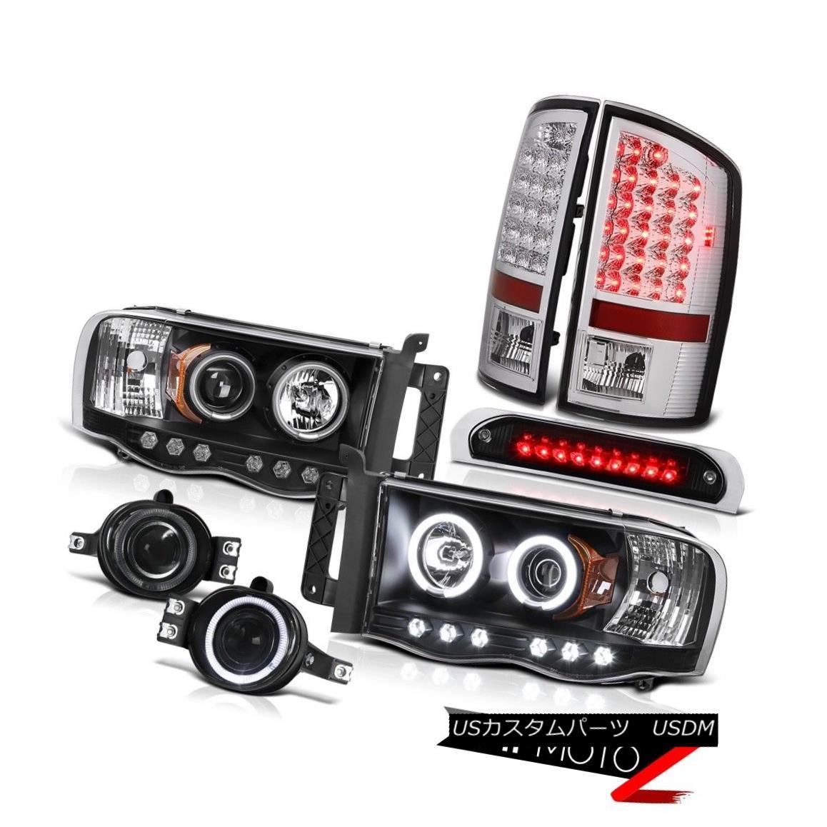 テールライト DRL CCFL Ring Headlights LED Bulb Tail Lights Bumper Fog Third 02-05 Ram 1500 DRL CCFLリングヘッドライトLED電球テールライトバンパーフォグ3rd 02-05 Ram 1500