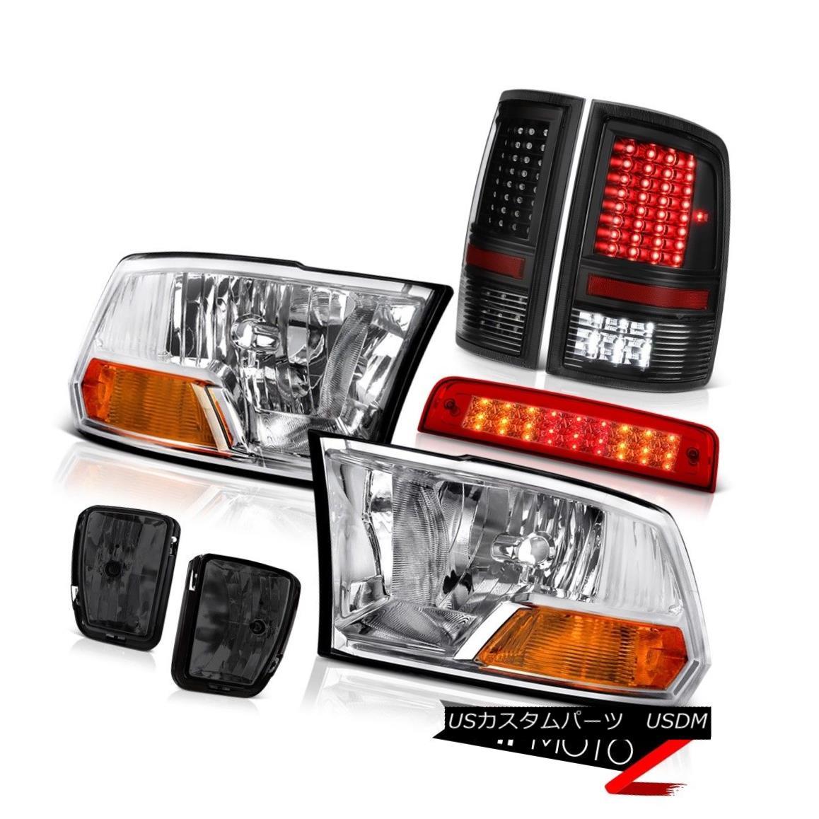 テールライト 13-18 Ram 1500 RT Third Brake Lamp Smoked Foglamps Tail Lamps Headlamps Assembly 13-18 Ram 1500 RT第3ブレーキランプスモークフォグランプテールランプヘッドランプアセンブリ