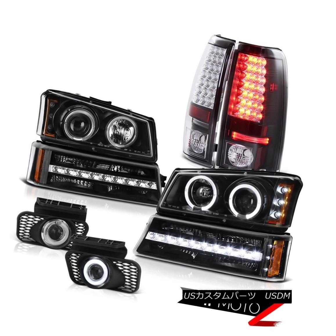テールライト 03 04 05 06 Silverado 2500HD Fog lamps inky black tail parking light Headlights 03 04 05 06 Silverado 2500HDフォグランプ黒い尾のパーキングライトヘッドライト