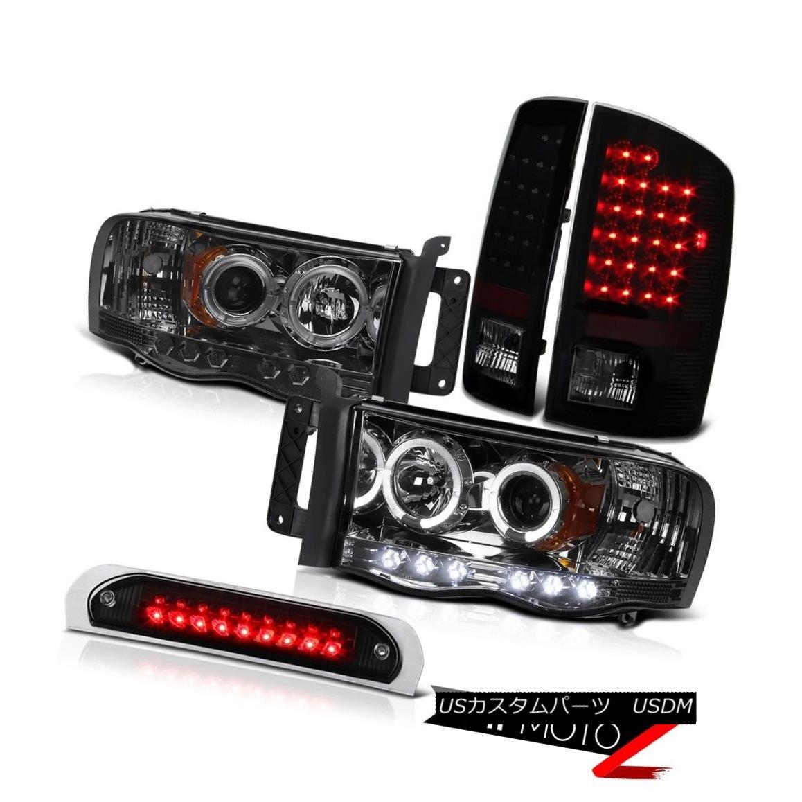 テールライト Tinted Headlights Smoke LED Tail Lights Third Brake Cargo 02 03 04 05 Ram WS 着色されたヘッドライトスモークLEDテールライトThird Brake Cargo 02 03 04 05 Ram WS