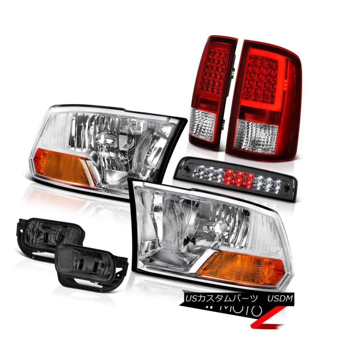 テールライト 09 10 11-13 Dodge RAM 1500 Tail Lamps Fog Brake Light Factory Style Head Lamp 09 10 11-13 Dodge RAM 1500テールランプフォグブレーキライト工場スタイルヘッドランプ