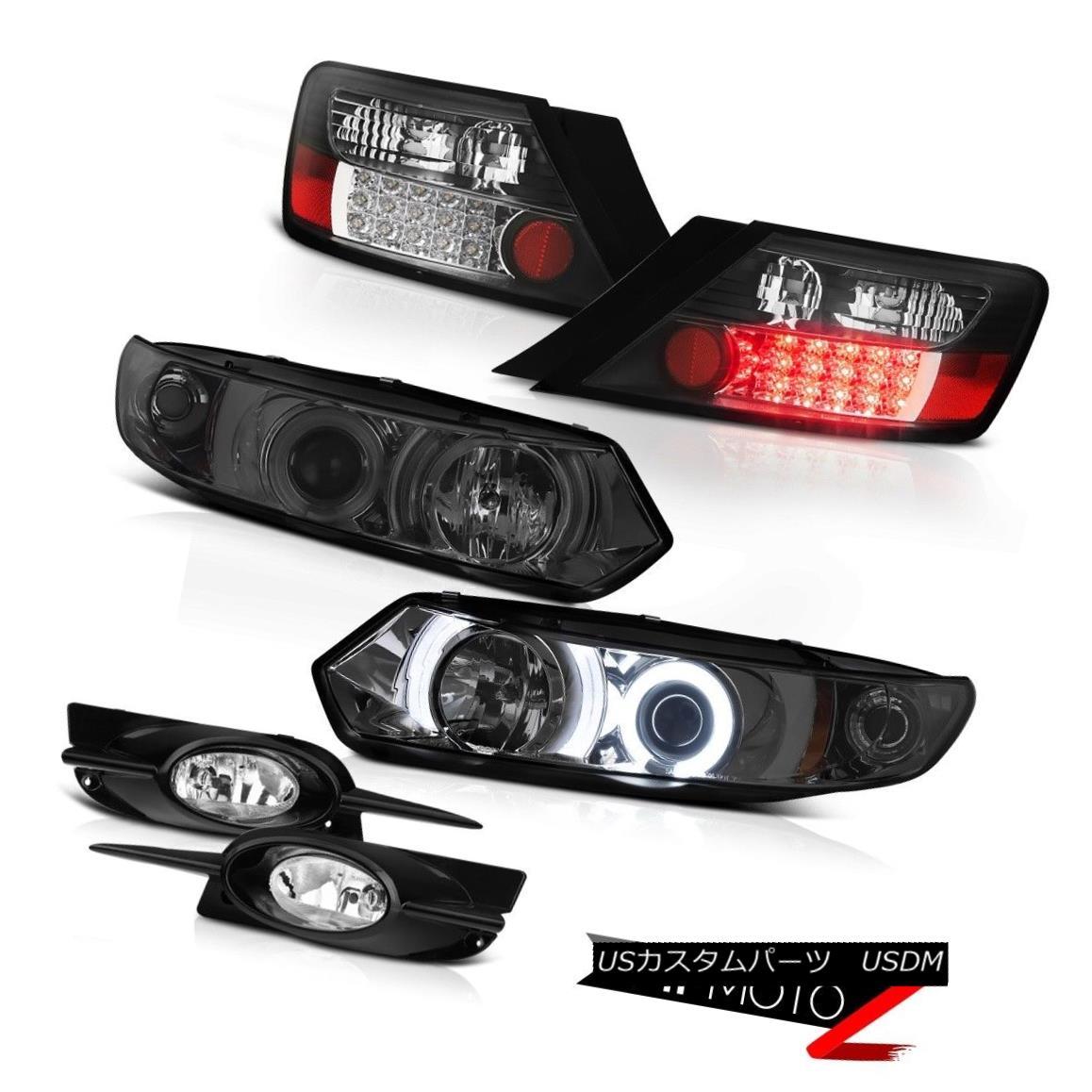 テールライト 09-11 Civic Coupe Dark CCFL Angel Eye Headlight BLACK LED Tail Light Driving Fog 09-11シビッククーペダークCCFLエンジェルアイヘッドライトブラックLEDテールライトドライビングフォグ