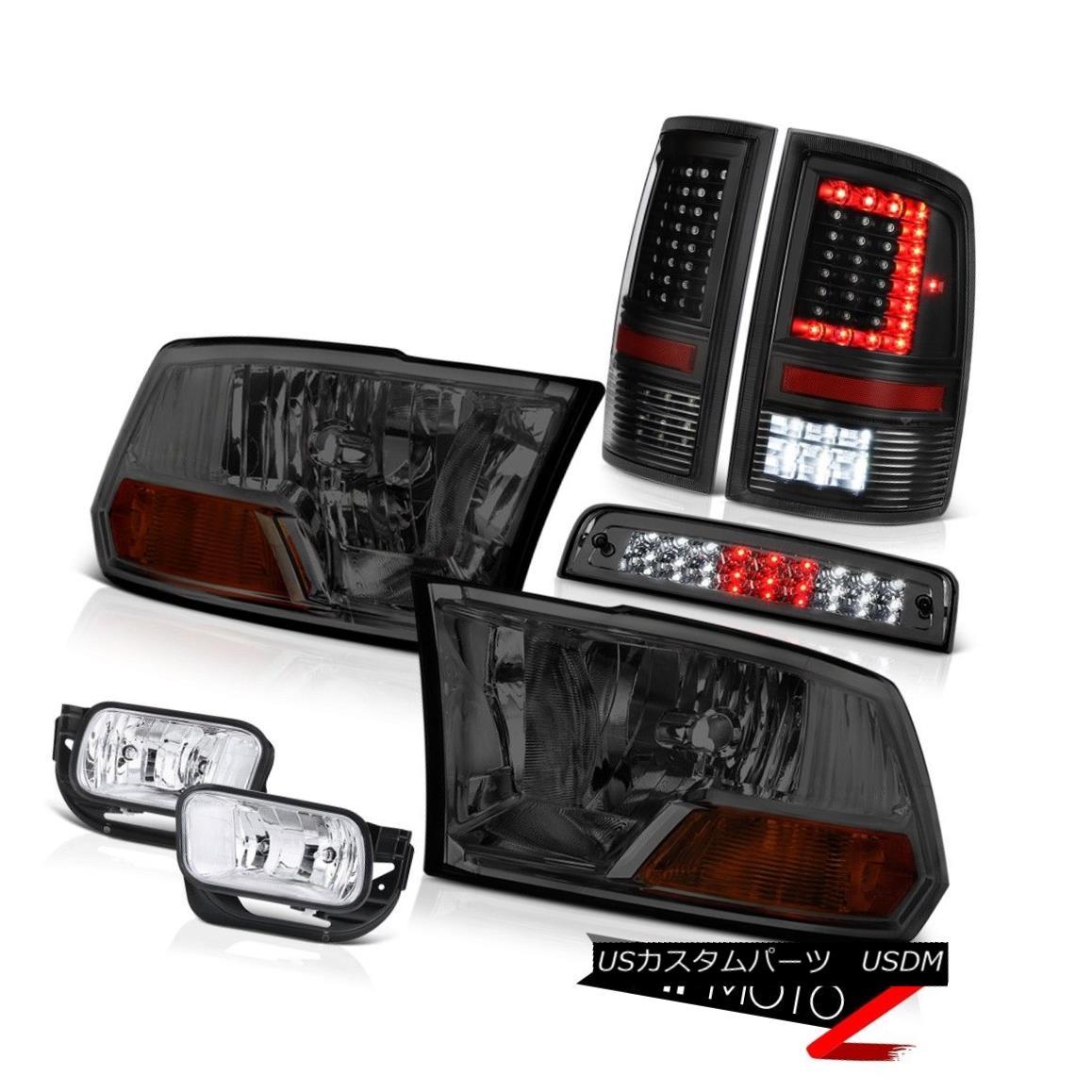 テールライト 09-18 Dodge RAM 2500 3500 Tail Lights Fog Lamps Brake Factory Style Headlight 09-18 Dodge RAM 2500 3500テールライトフォグランプブレーキ工場スタイルヘッドライト