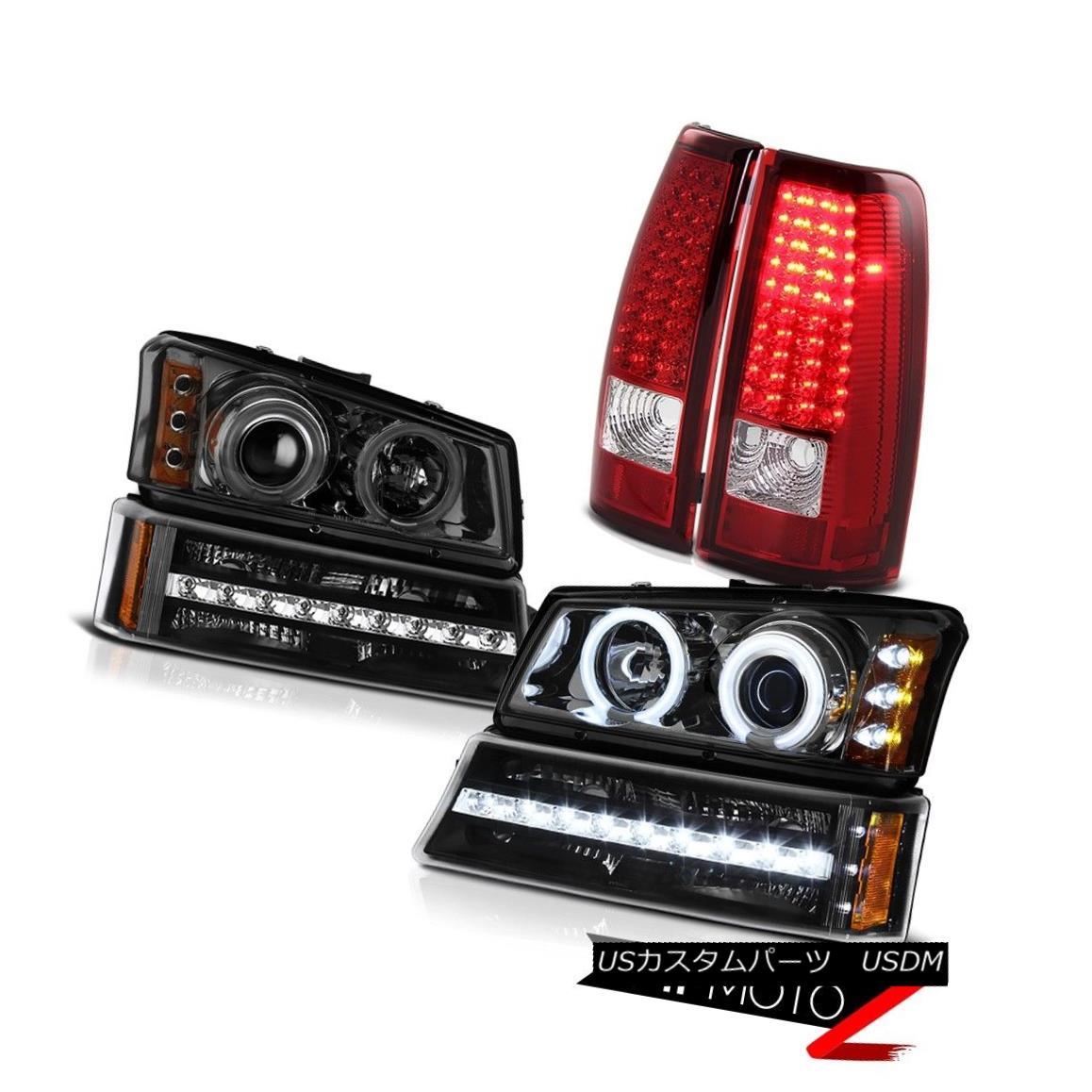 テールライト 03 04 05 06 Silverado Tail lamps nighthawk black bumper light smokey headlamps 03 04 05 06シルバラードテールランプナイトホークブラックバンパーライトスモーキーヘッドランプ