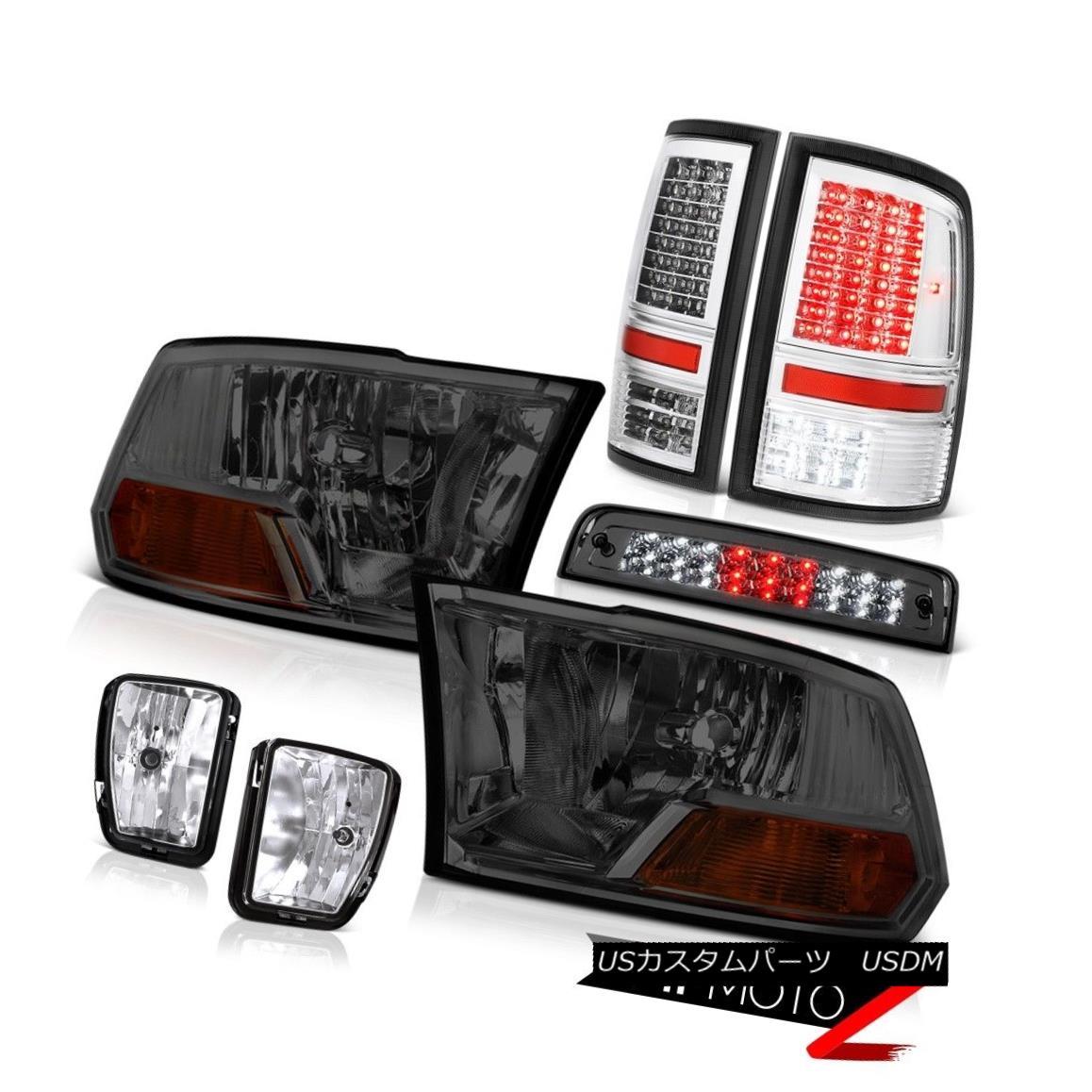 テールライト 13-18 Ram 1500 Lone Star Tail Lights High Stop Light Fog Headlights LED Oe STyle 13-18ラム1500ローンスターテールライトハイストップライトフォッグヘッドライトLED Oe STyle