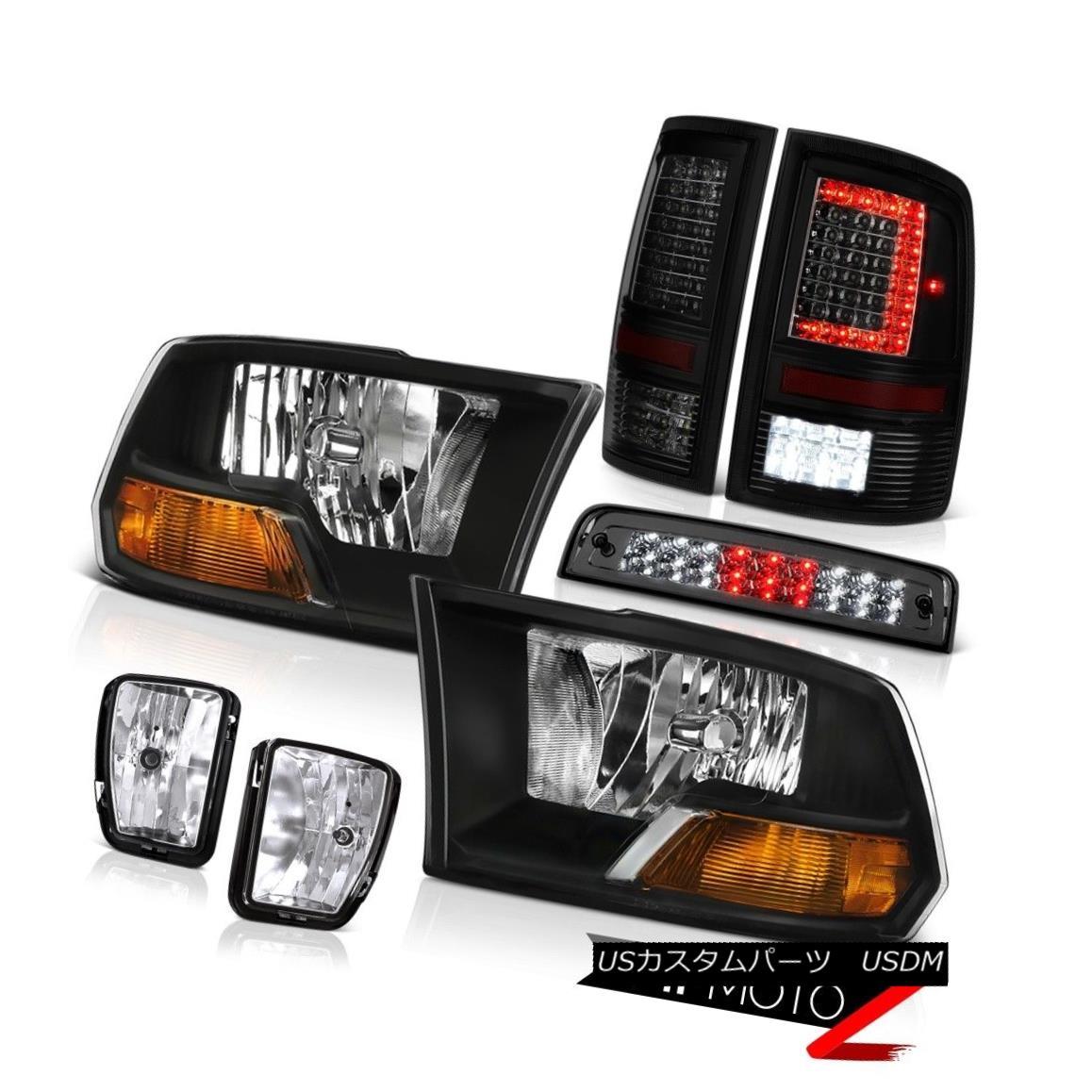テールライト 13-18 Dodge RAM 1500 Tail Lamps 3rd Brake Lights Fog Factory Style Headlamps SET 13-18ダッジRAM 1500テールランプ第3ブレーキライトフォグ工場スタイルヘッドランプSET