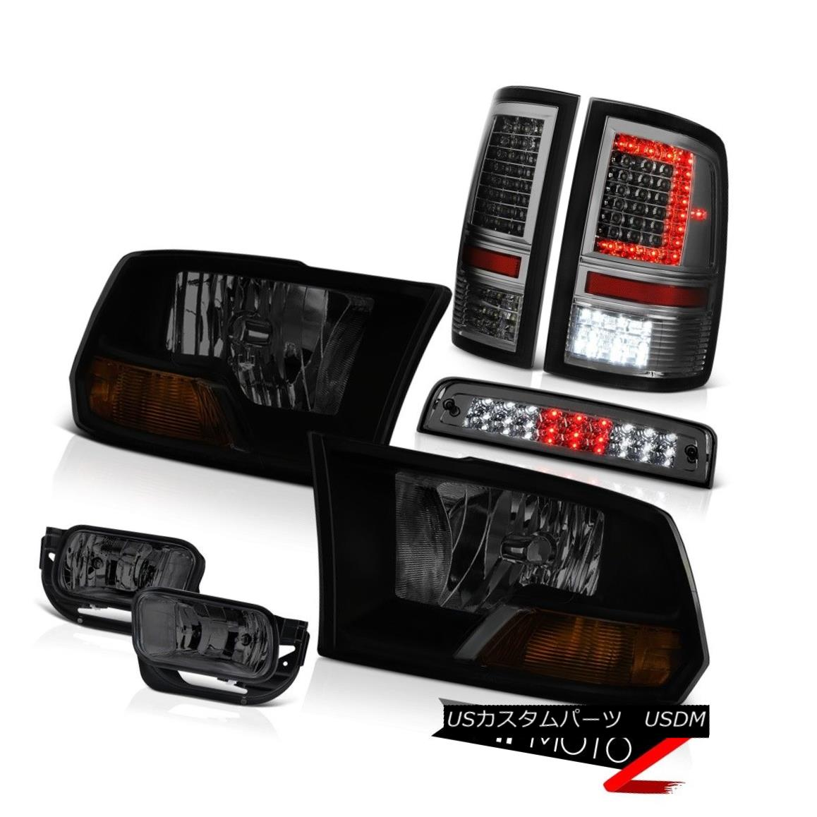 テールライト 09-14 15-18 Dodge RAM 3500 LED Tail Light Fog Lamp Brake Factory Style Headlamp 09-14 15-18ダッジRAM 3500 LEDテールライトフォグランプブレーキ工場スタイルヘッドライト