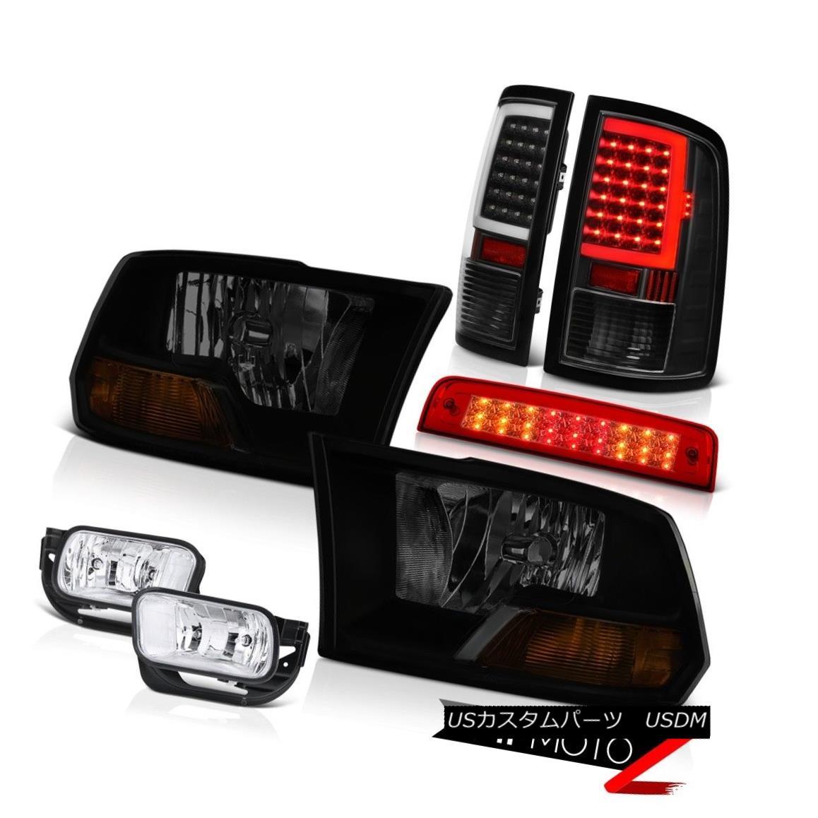 テールライト 2009-2013 Dodge RAM 1500 Tail Lamps Brake Lights Fog Factory Style Headlamp SET 2009-2013ダッジRAM 1500テールランプブレーキライトフォグ工場スタイルヘッドランプSET