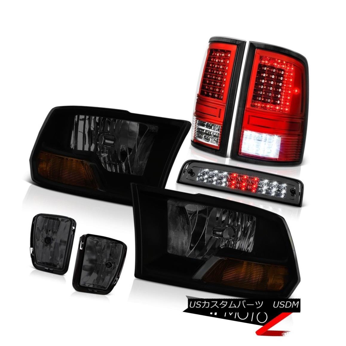 テールライト 13-18 RAM 1500 Tail Lamp Smokey Fog Brake Light Factory Style Head Lamp Assembly 13-18 RAM 1500テールランプスモーキーフォグブレーキライト工場風ヘッドランプアセンブリ