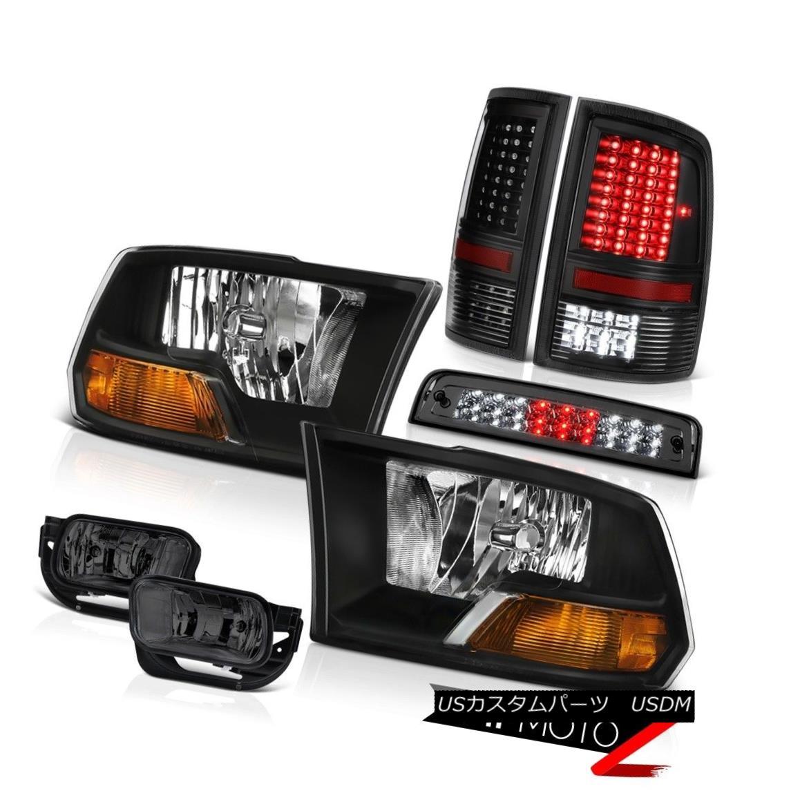 テールライト 2009-2013 Ram 1500 6.4L Tail Lights Smoked Foglights Third Brake Lamp Headlamps 2009-2013 Ram 1500 6.4Lテールライトスモークフォグライト第3ブレーキランプヘッドランプ