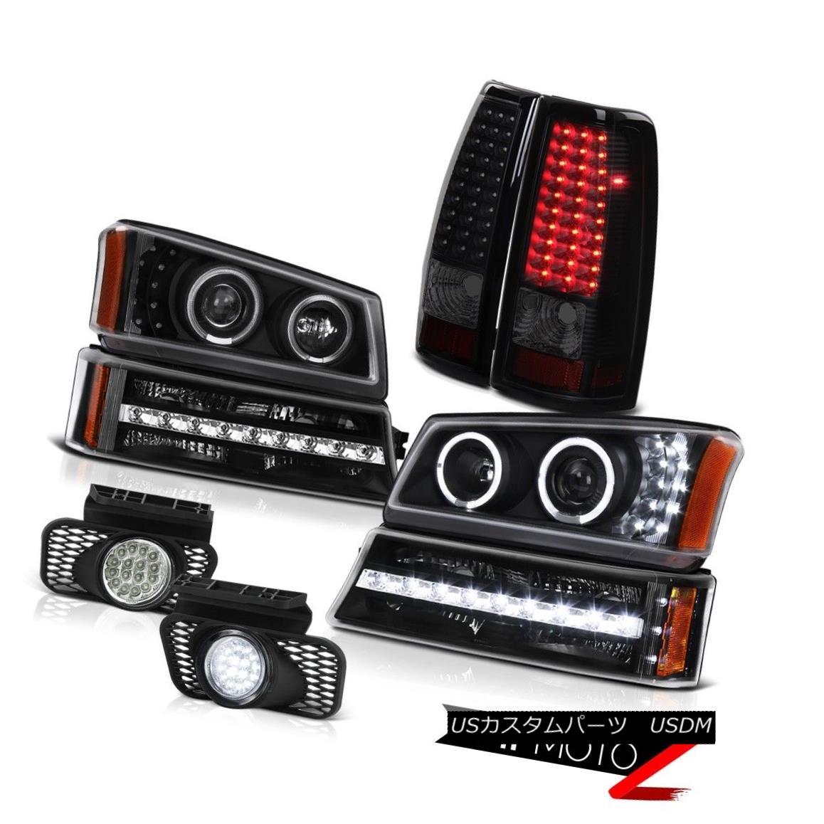 テールライト 03-06 Silverado 2500HD Fog lights tail lamps black parking lamp headlamps SMD 03-06シルバラード2500HDフォグライトテールランプブラックパーキングランプヘッドランプSMD