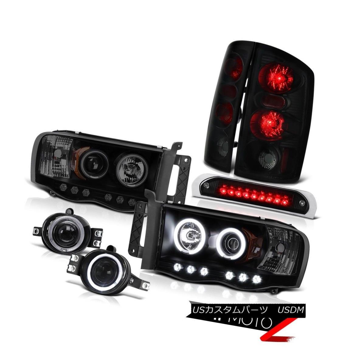 テールライト 2002-2005 Ram [BRIGHTEST] Rim Headlight Sinister Brake Lamp Halo Fog Third LED 2002-2005 Ram [BRIGHTEST]リム・ヘッドライトシスター・ブレーキ・ランプHalo Fog Third LED