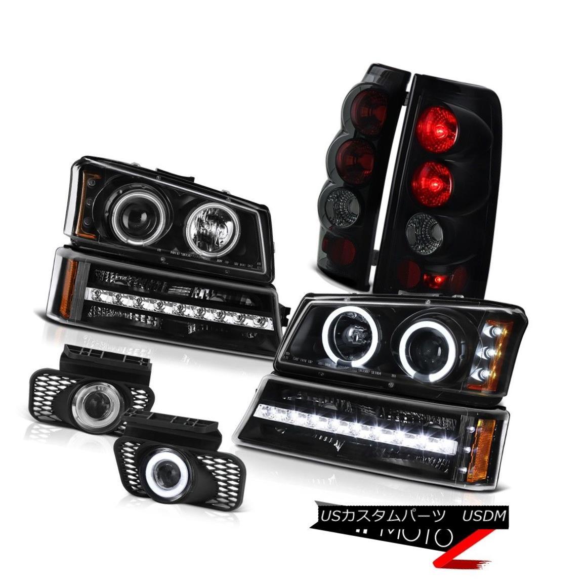 テールライト 03-06 Silverado 2500HD Foglights dark tinted taillamps bumper light headlamps 03-06シルバラード2500HDフォグライトダークテイリングテールランプバンパーライトヘッドランプ