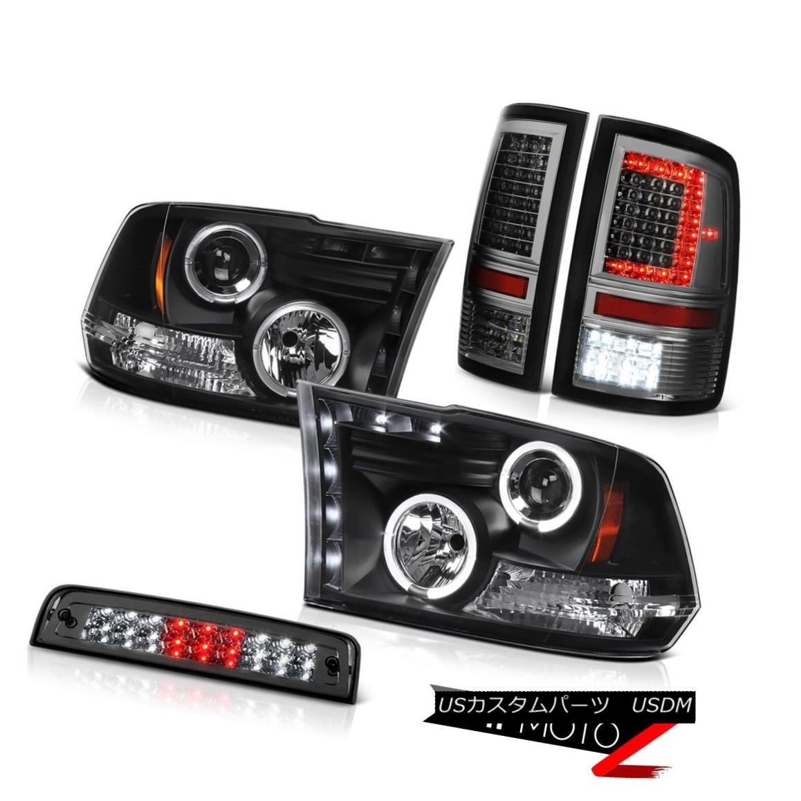 テールライト 2009-2018 Dodge RAM 2500 Titanium Smoke Led Tail Lights Brake Headlamp Assembly 2009-2018ダッジRAM 2500チタン煙Ledテールライトブレーキヘッドランプアセンブリ