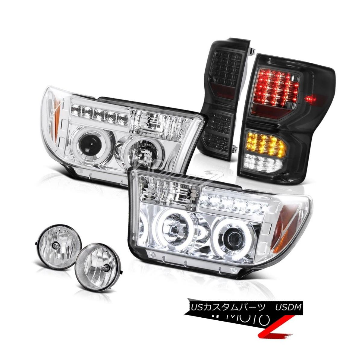 テールライト 07-13 Toyota Tundra Limited Smokey Tail Lights Headlights Fog SMD