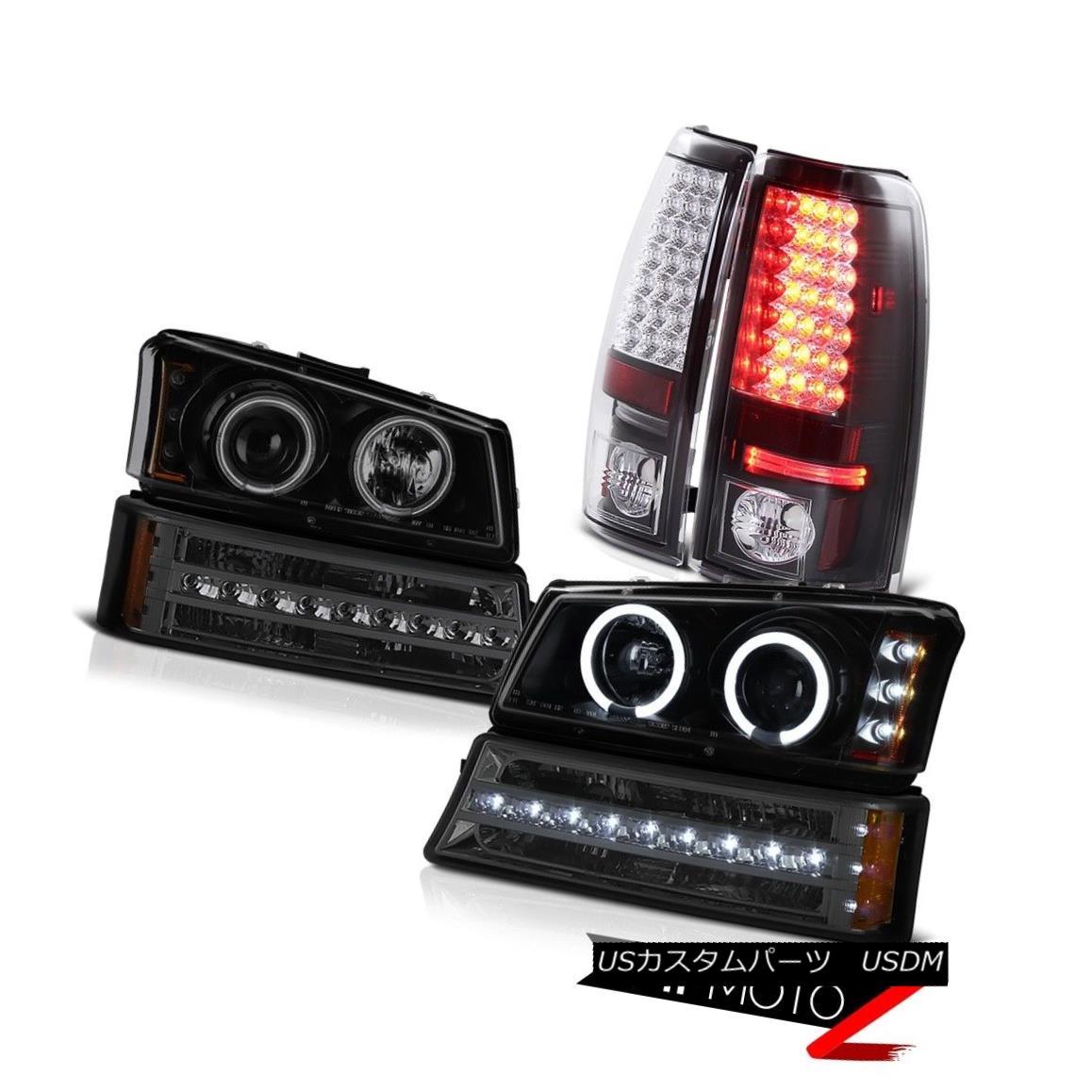 テールライト 03-06 Silverado Taillights titanium smoke signal light projector headlamps LED 03-06 Silveradoテールライトチタン煙信号プロジェクターヘッドライトLED