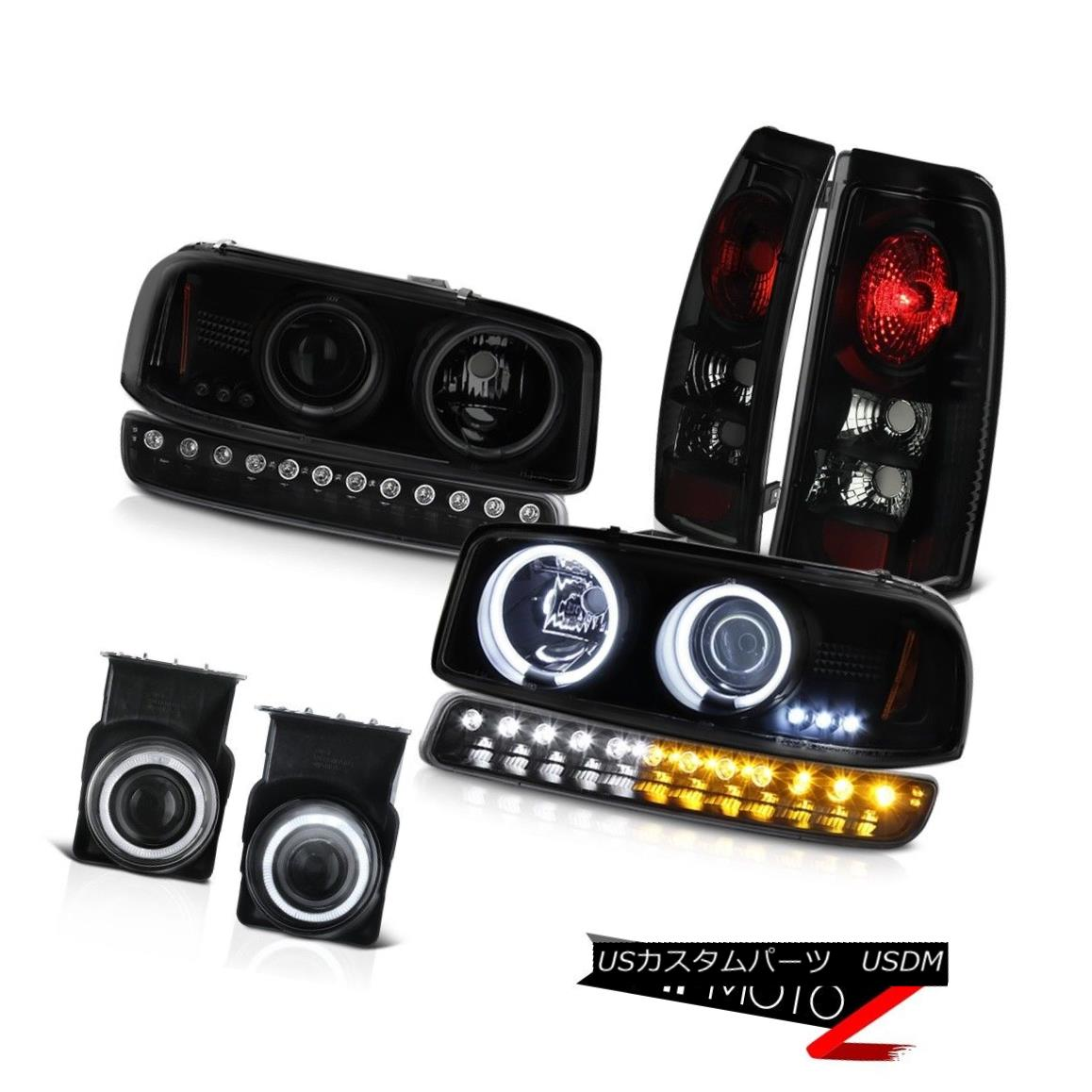 テールライト 03-06 Sierra C3 Fog lamps taillights raven black parking light ccfl headlights 03-06シエラC3フォグランプテールライトレーヴンブラックパーキングライトccflヘッドライト
