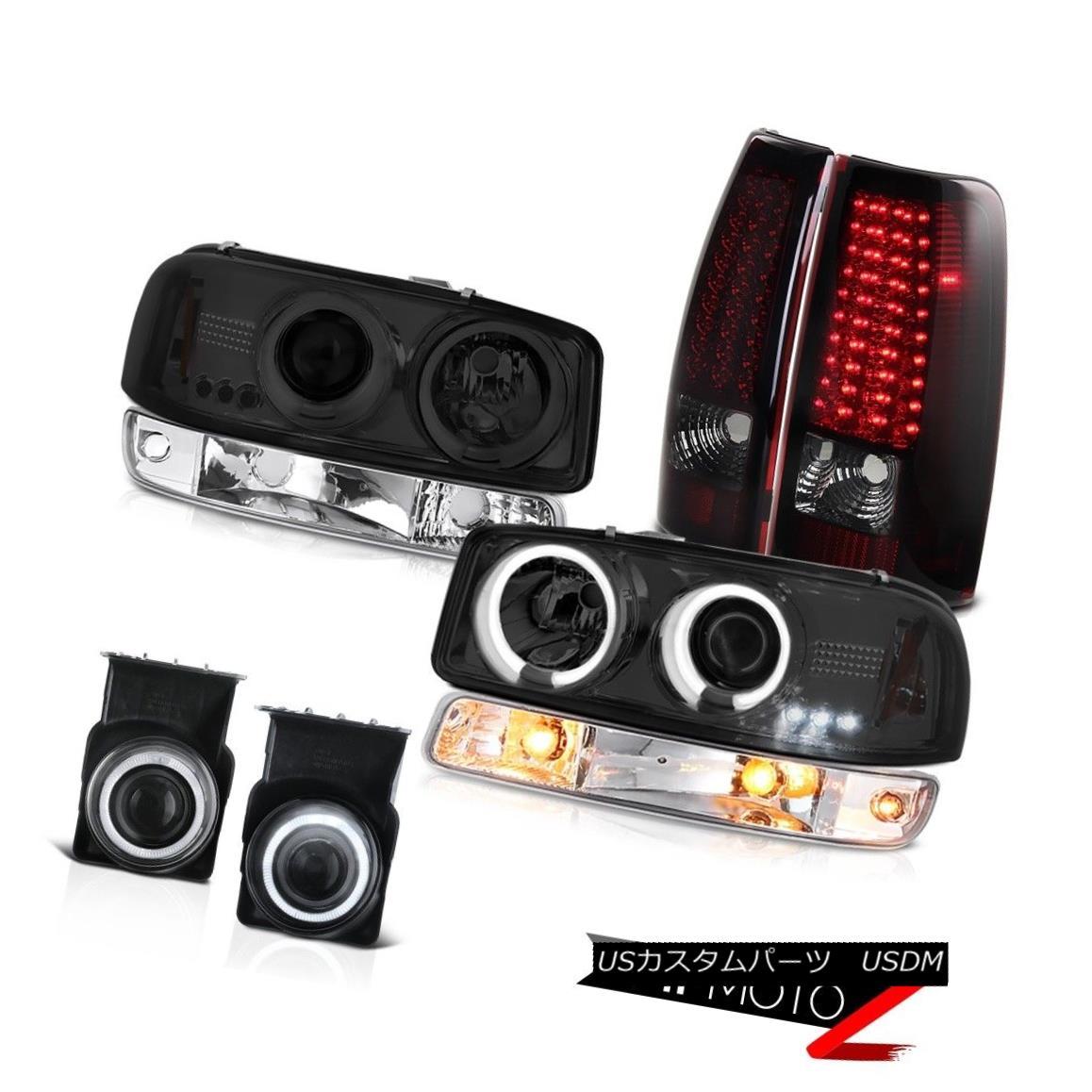 テールライト 03-06 Sierra C3 Chrome fog lamps led tail turn signal smoked ccfl Headlights 03-06シエラC3クロームフォグランプは、テールのターンシグナルをスモークccflヘッドライト