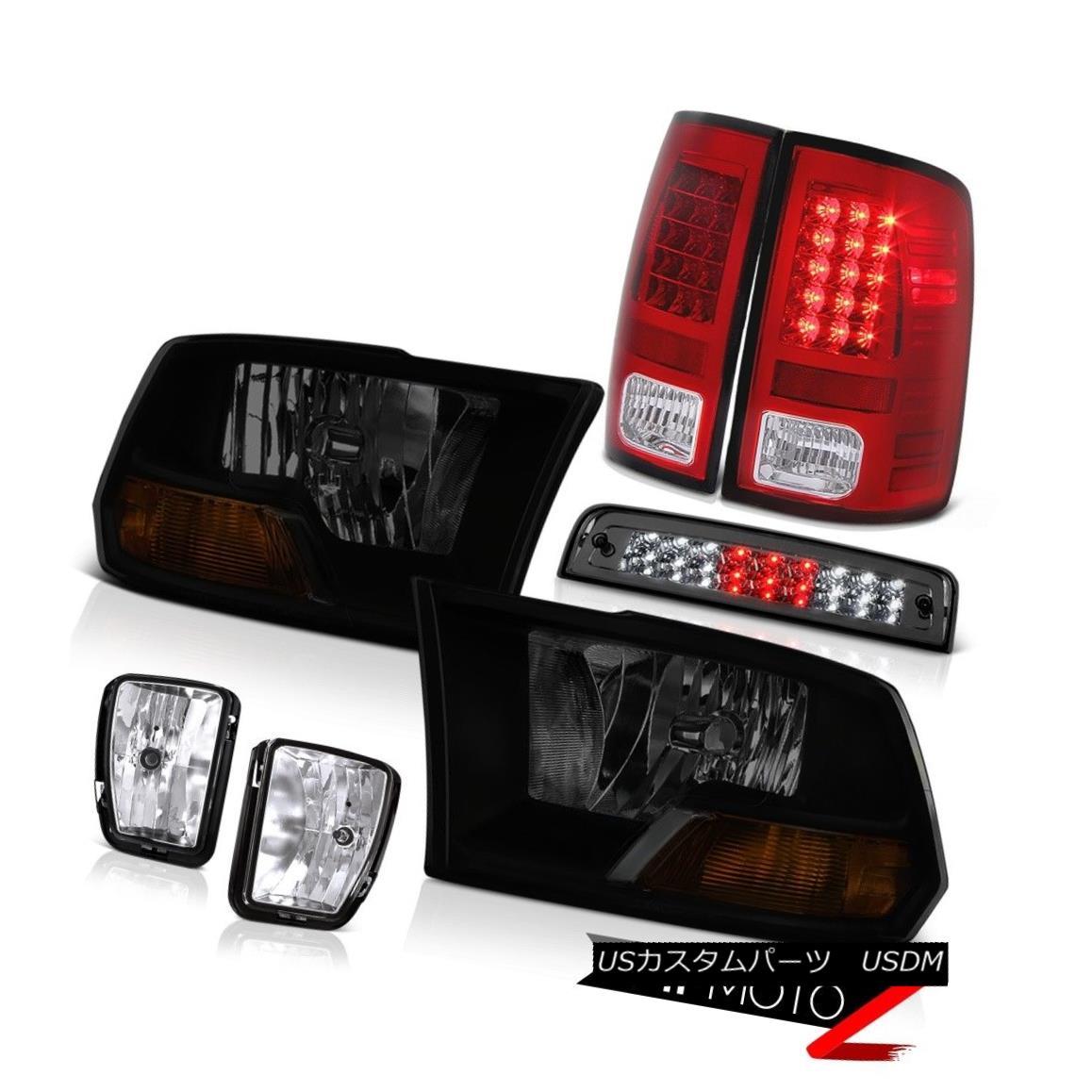 テールライト 13-18 Dodge Ram 1500 SLT Third Brake Lamp Fog Lamps Rear Headlamps LED Assembly 13-18 Dodge Ram 1500 SLT第3ブレーキランプフォグランプリアヘッドランプLEDアセンブリ