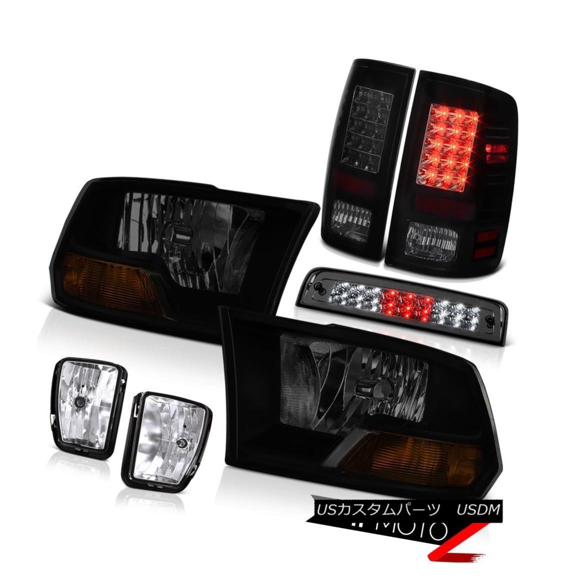 テールライト 2013-2018 Dodge Ram 1500 SLT Smokey High Stop Lamp Foglamps Taillamps Headlamps 2013-2018 Dodge Ram 1500 SLTスモーキーハイストップランプフォグランプタイルランプヘッドランプ