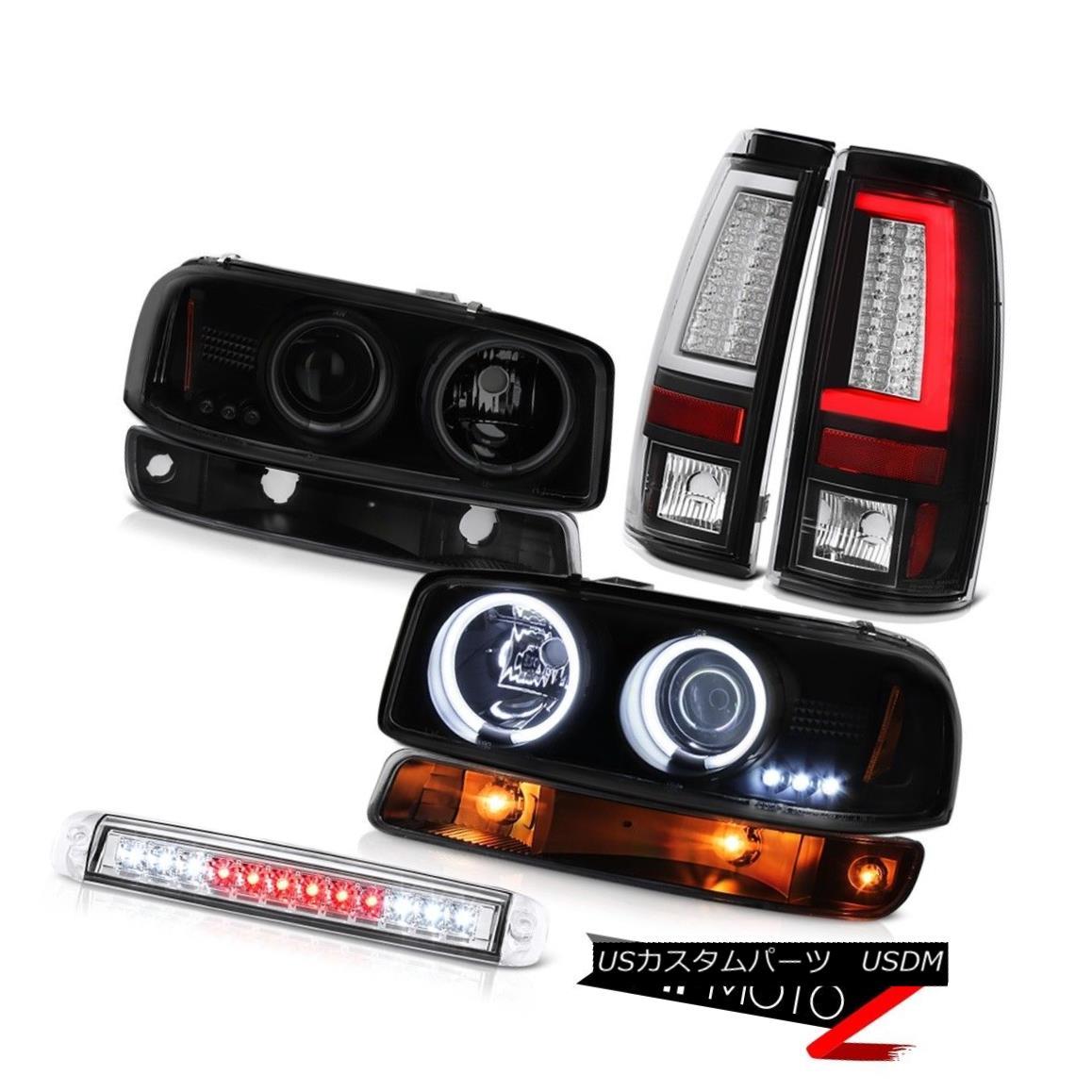 テールライト 1999-2006 Sierra SL Tail Lights Third Brake Lamp Signal CCFL Headlamps Dual Halo 1999-2006 Sierra SLテールライト第3ブレーキランプ信号CCFLヘッドランプデュアルヘイロー