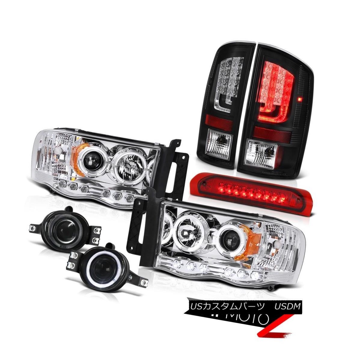 テールライト 2003-2005 Dodge Ram 1500 3.7L Taillights Headlamps Foglights Red Roof Cab Light 2003-2005ダッジラム1500 3.7Lターンライトヘッドランプフォギーライトレッドルーフキャブライト