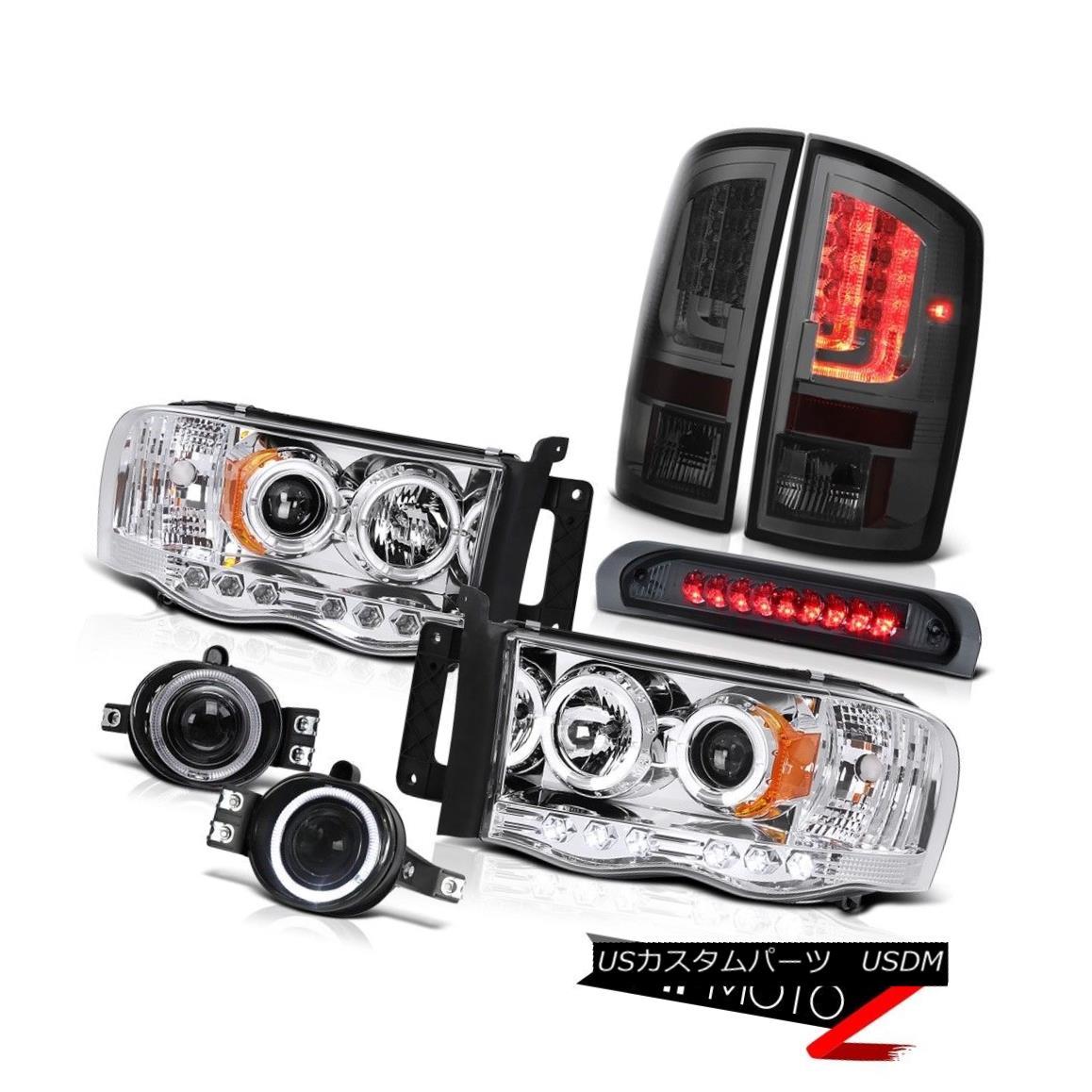 テールライト 2003-2005 Dodge Ram 2500 5.9L Tail Lamps Headlamps Fog High STop Light Dual Halo 2003-2005 Dodge Ram 2500 5.9LテールランプヘッドランプFog High STOPライトデュアルヘイロー