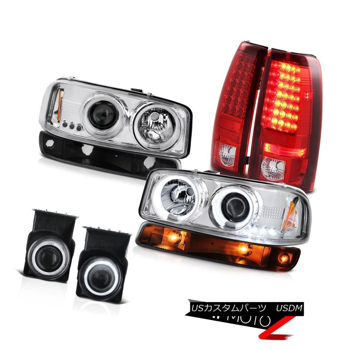 テールライト 03 04 05 06 Sierra C3 Foglamps red tail lights black signal lamp ccfl headlamps 03 04 05 06シエラC3フォグランプ赤い尾灯黒信号ccflヘッドランプ