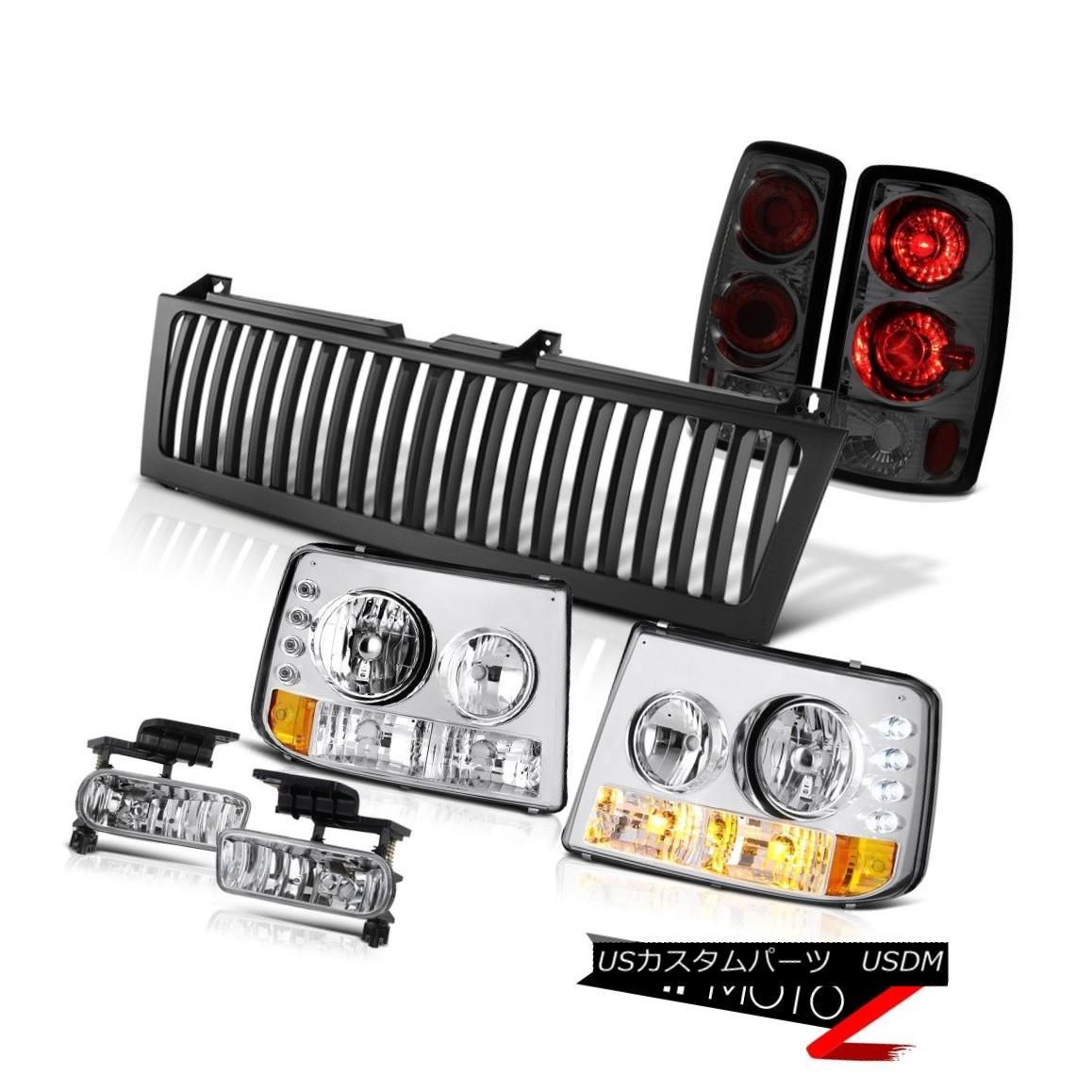 テールライト 00 01 02 03 04 05 Suburban 5.3L Euro Chrome Headlight Tail Light Tail Fog Grille 00 01 02 03 04 05郊外5.3Lユーロクロームヘッドライトテールライトテールフォググリル