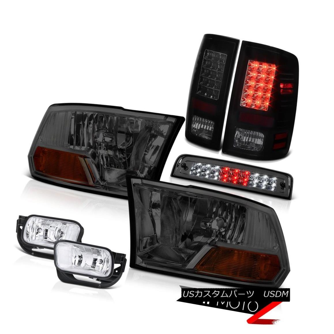 テールライト 09-13 Dodge Ram 1500 6.4L Foglamps Smokey Roof Cab Lamp Taillamps Headlights SMD 09-13 Dodge Ram 1500 6.4L FoglampsスモーキールーフキャブランプタイルランプヘッドライトSMD