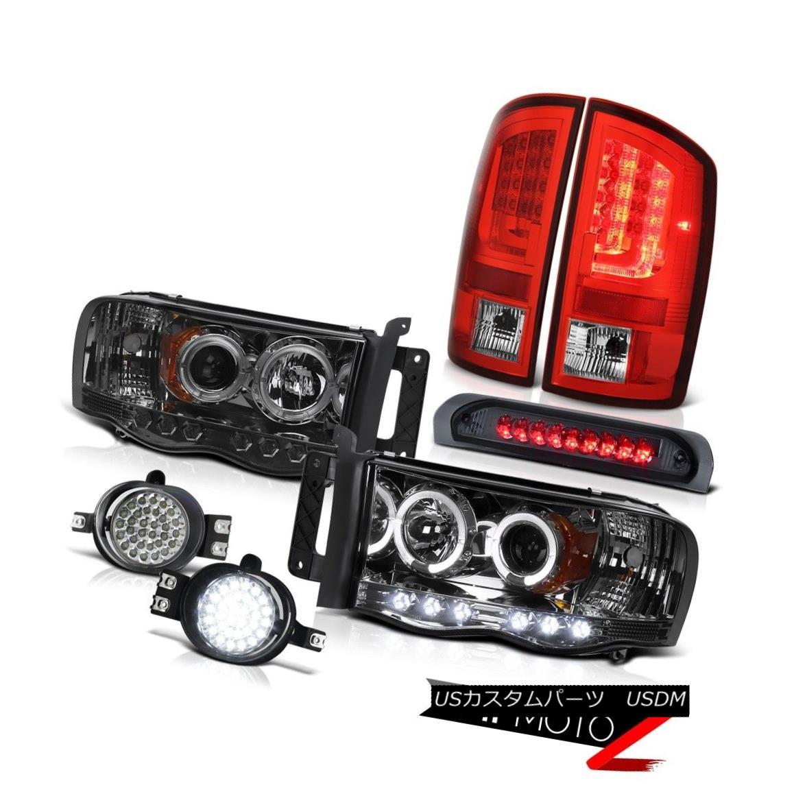 テールライト 2003-2005 Dodge Ram 1500 3.7L Red Tail Lamps Headlamps Fog Roof Cargo Lamp LED 2003-2005ダッジラム1500 3.7LレッドテールランプヘッドランプフォグルーフカーゴランプLED